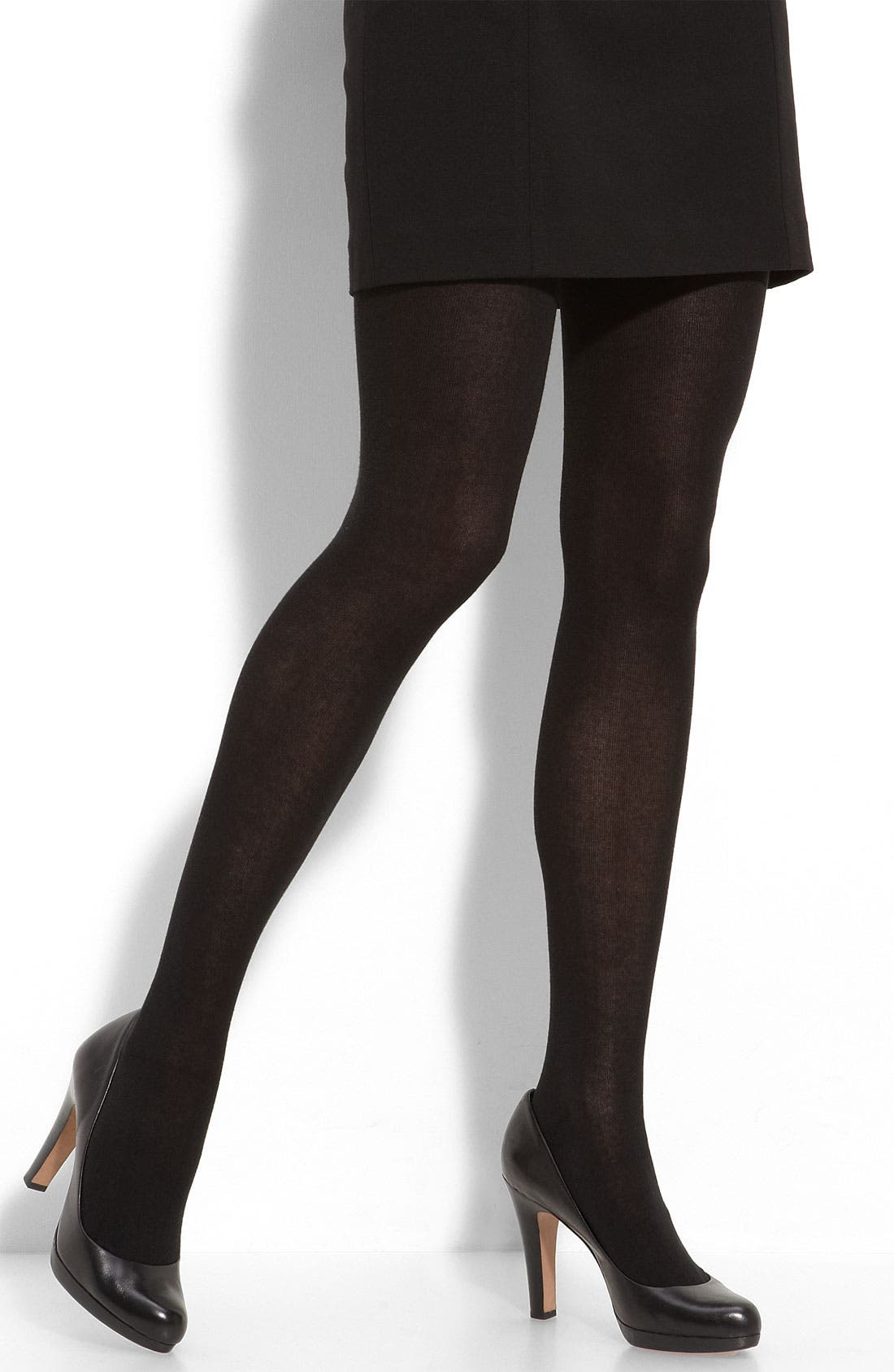 Alternate Image 1 Selected - Hue Flat Knit Sweater Tights