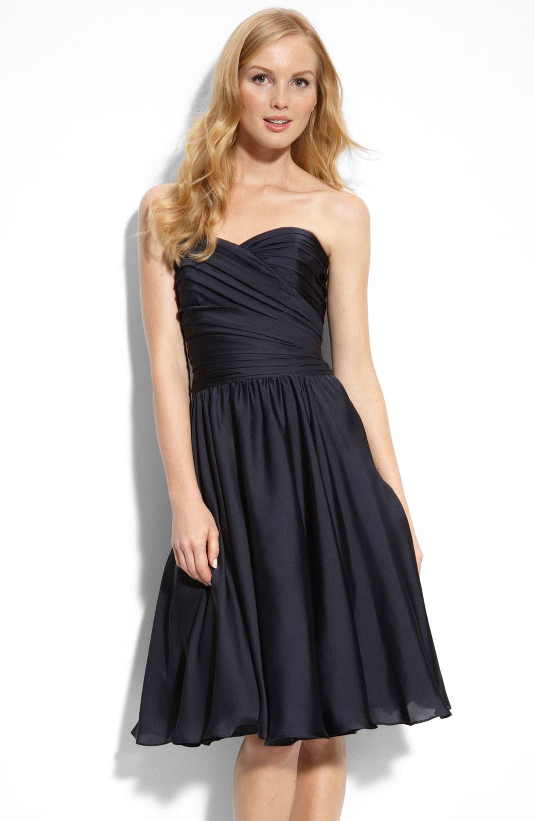 Main Image - ML Monique Lhuillier Bridesmaids Strapless Dress