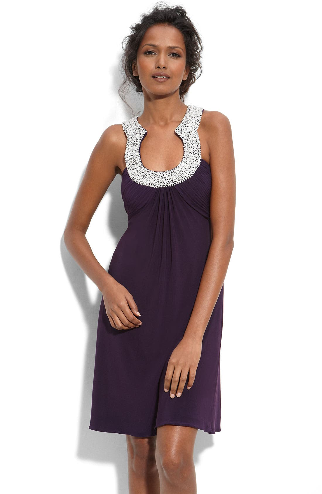 Alternate Image 1 Selected - JS Boutique Embellished Matte Jersey Dress