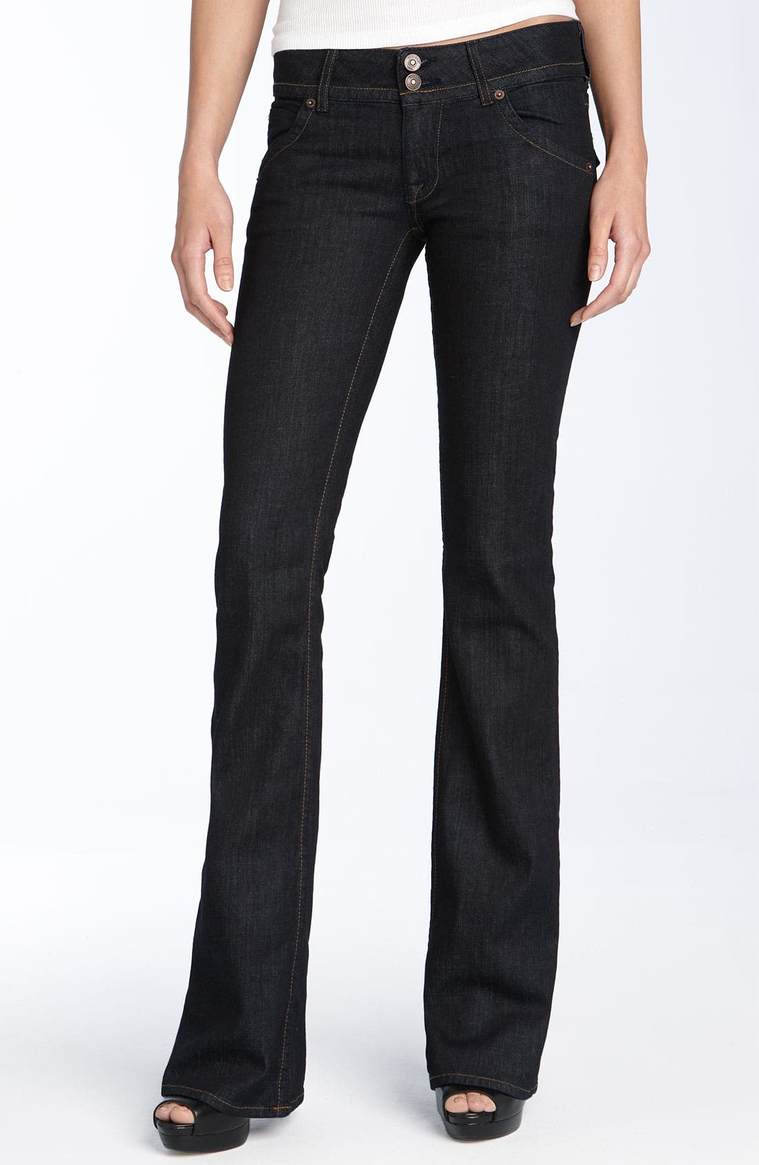 Alternate Image 1 Selected - Hudson Jeans Triangle Pocket Bootcut Stretch Jeans (Lisa Dark Blue Wash) (Petite)
