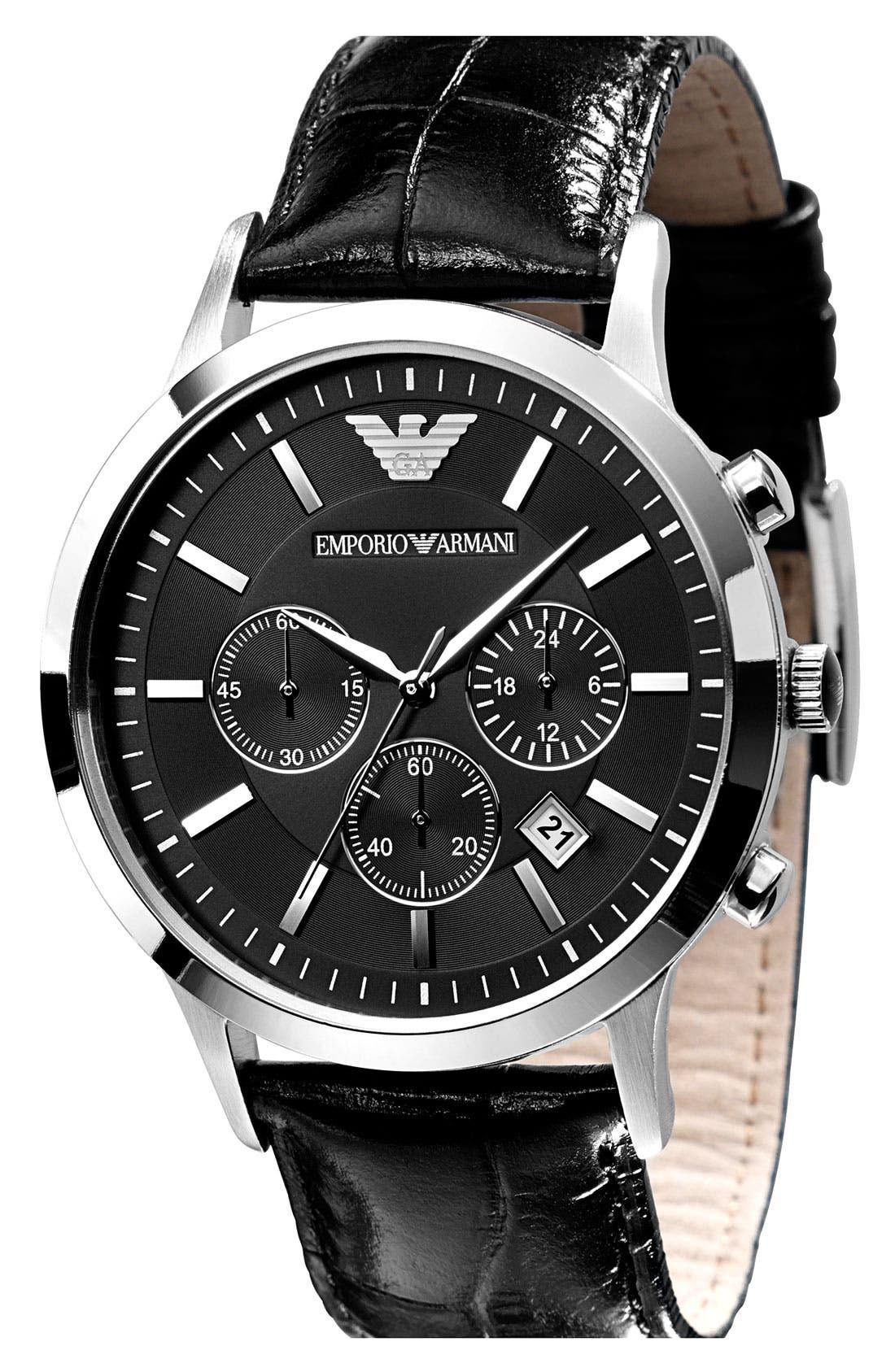 Alternate Image 2  - Emporio Armani Stainless Steel Watch, 43mm