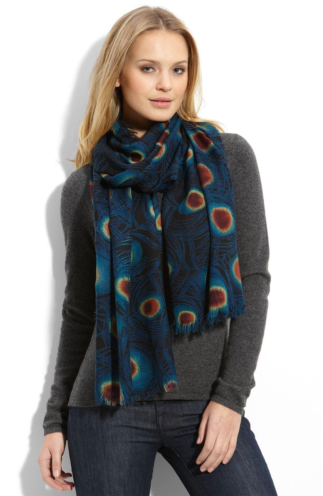 Main Image - Tarnish 'Peacock' Wool Scarf