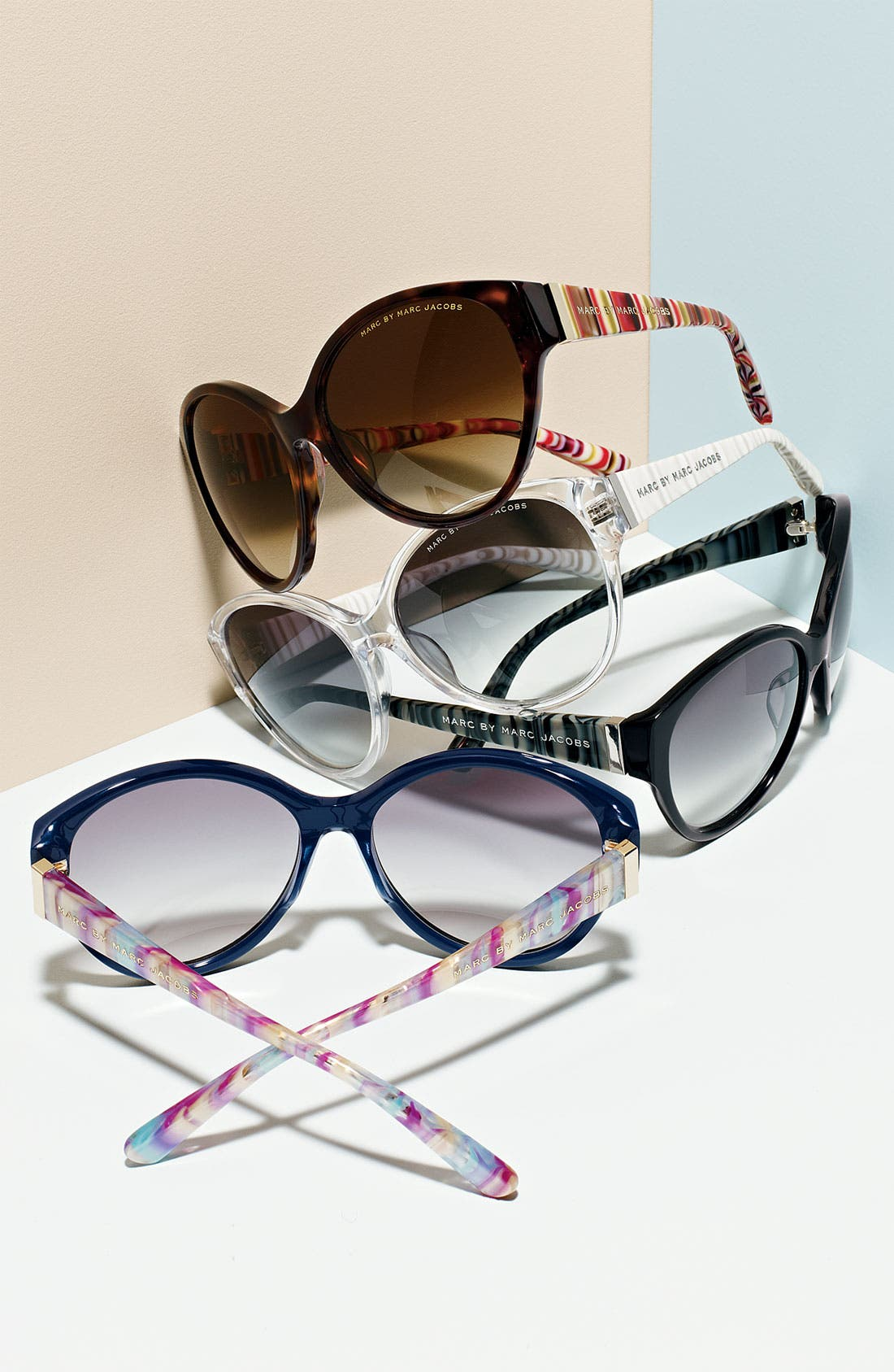 Alternate Image 2  - MARC BY MARC JACOBS Stripe Cat's Eye Sunglasses (Nordstrom Exclusive)