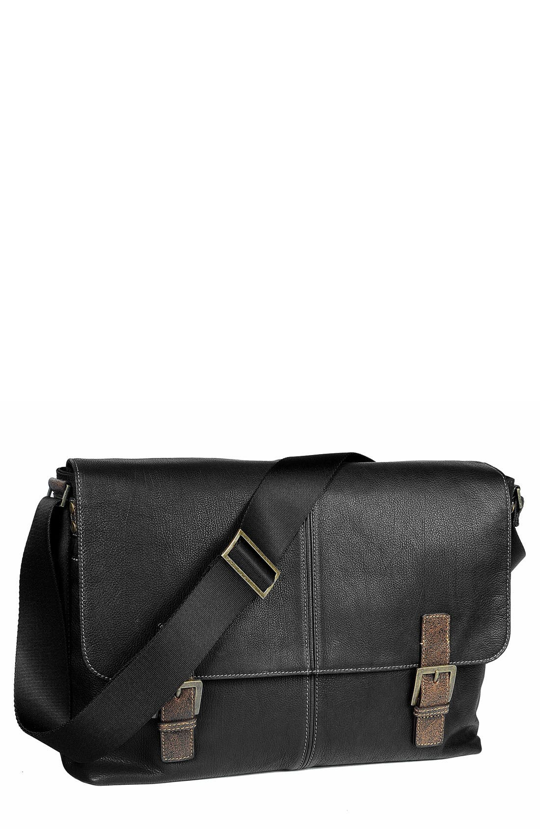 Alternate Image 1 Selected - Boconi Double Buckle Messenger Bag