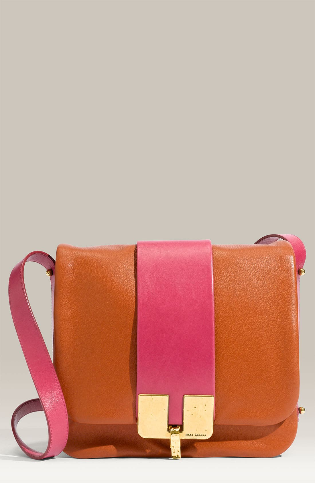 Alternate Image 1 Selected - MARC JACOBS 'Bamboo' Leather Crossbody Bag