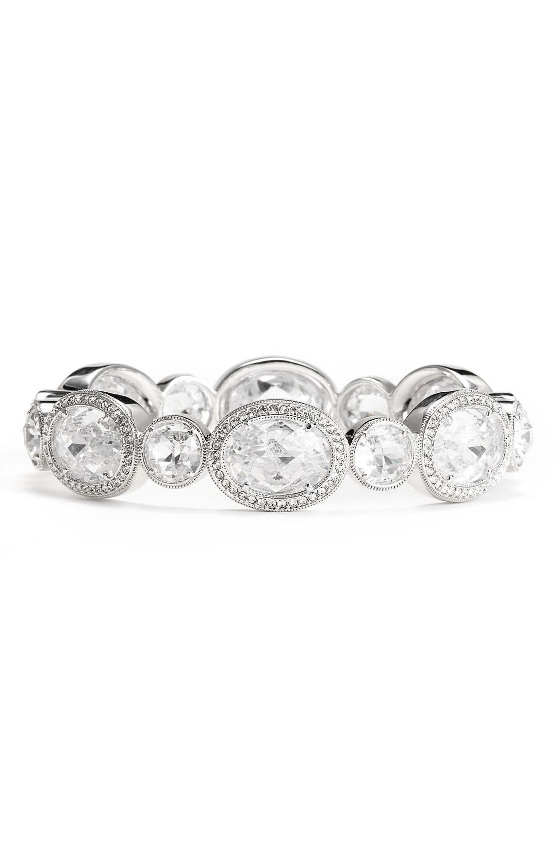 Alternate Image 1  - Nadri Crystal & Cubic Zirconia Hinged Bangle