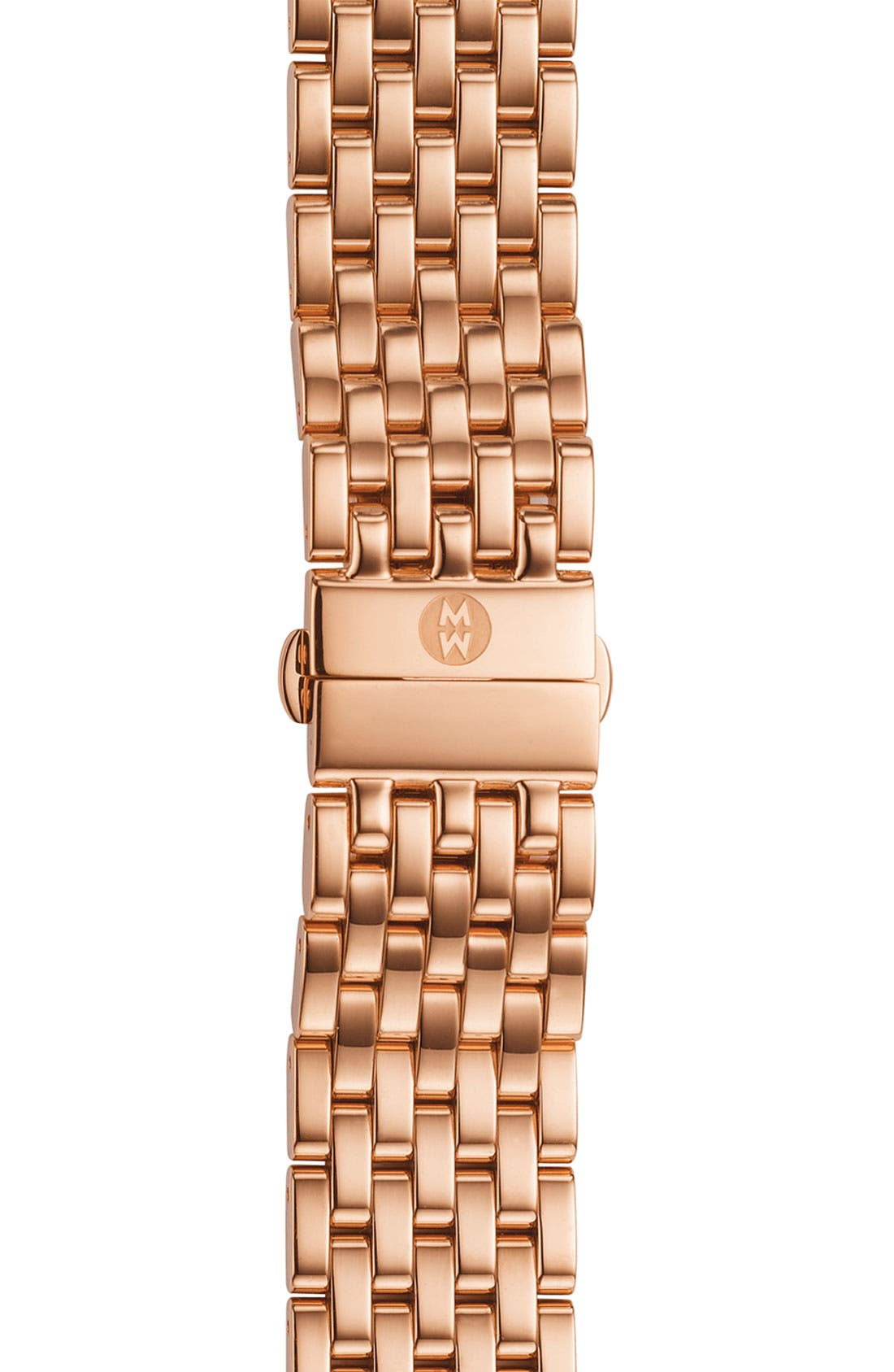 Alternate Image 1 Selected - MICHELE 'Caber' 18mm Rose Gold Watch Bracelet