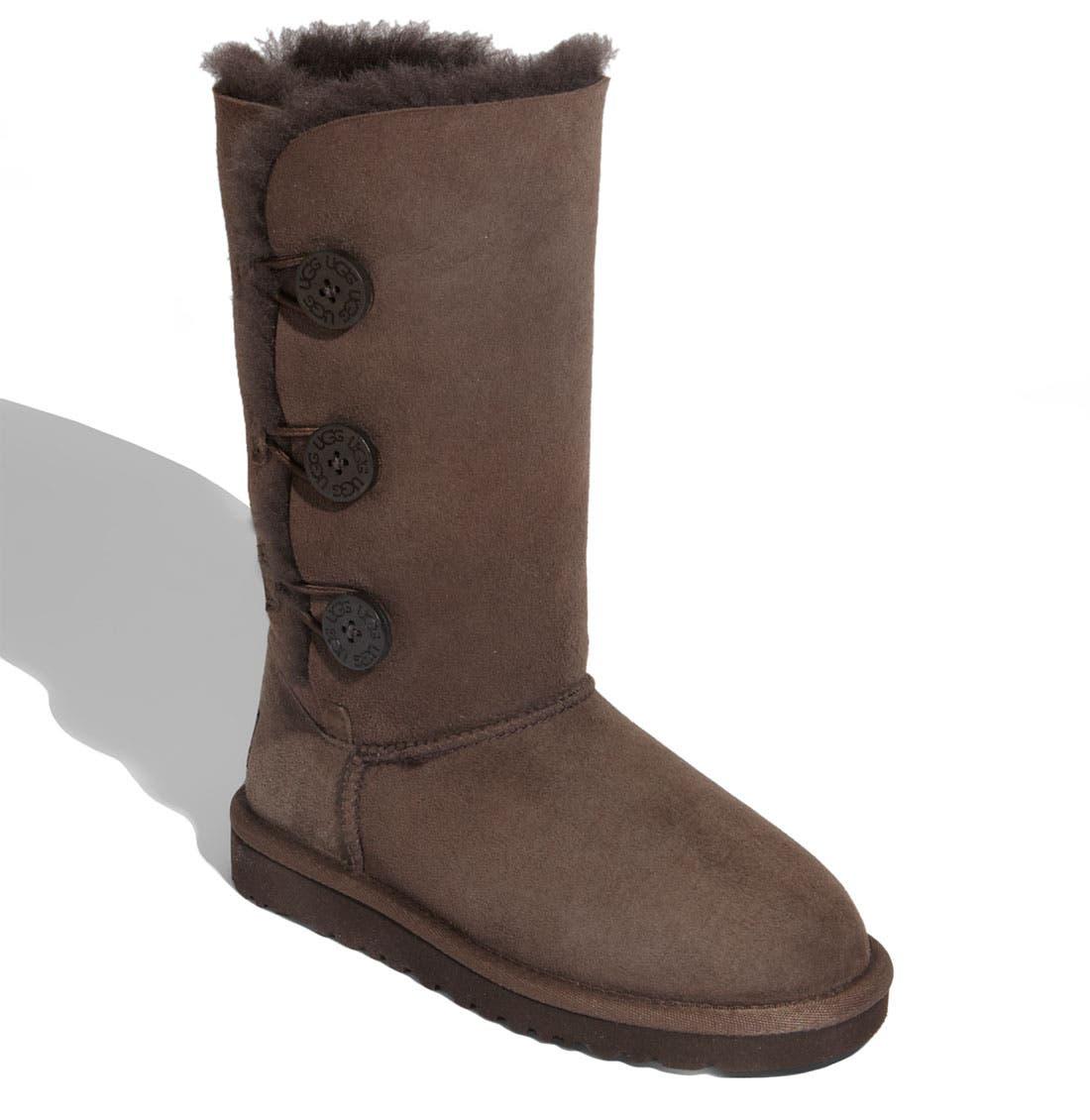 Alternate Image 1 Selected - UGG® 'Bailey Button Triplet' Boot (Little Kid & Big Kid)