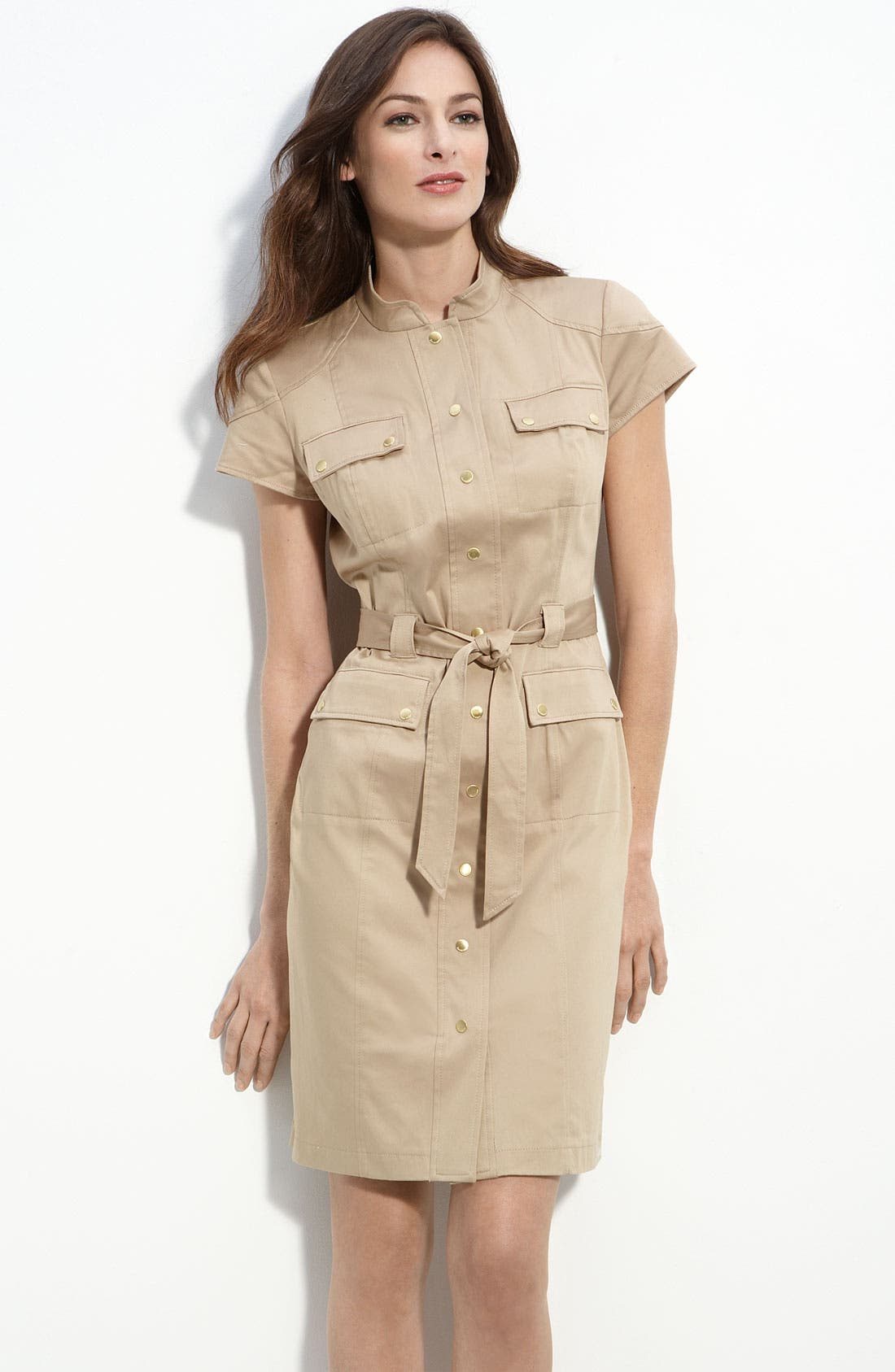 Main Image - Calvin Klein Stretch Cotton Shirtdress