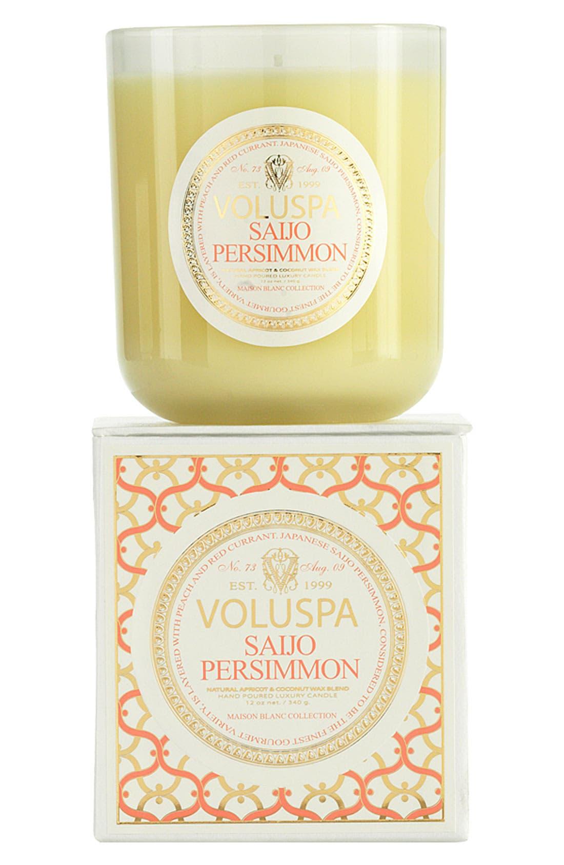 Voluspa 'Maison Blanc - Saijo Persimmon' Boxed Candle