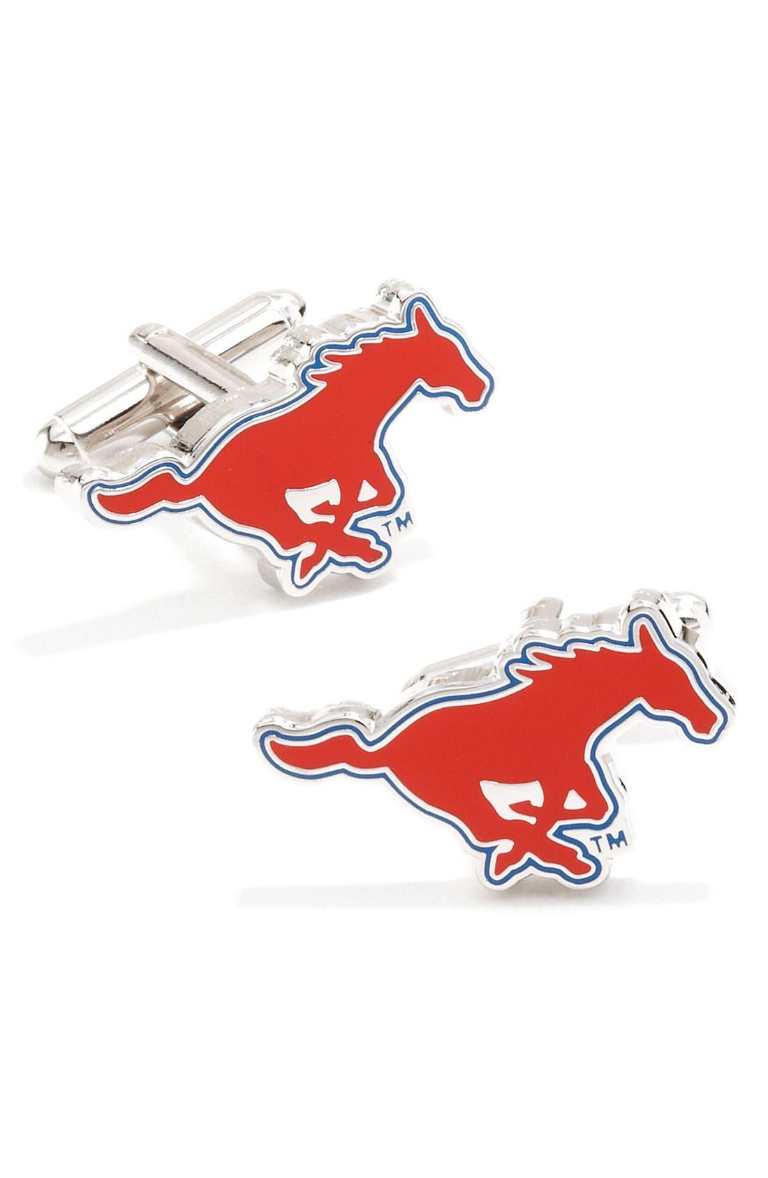 Main Image - Cufflinks, Inc. 'SMU Mustangs' Cuff Links