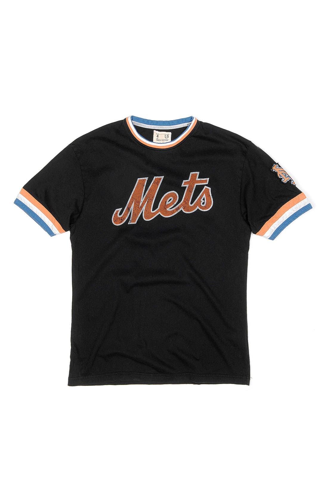 Alternate Image 4  - Red Jacket 'New York Mets' Trim Fit Ringer T-Shirt (Men)