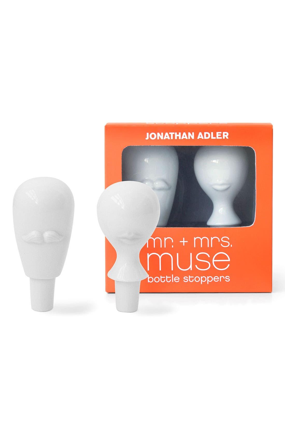 Alternate Image 1 Selected - Jonathan Adler 'Mr. & Mrs. Muse' Bottle Stoppers