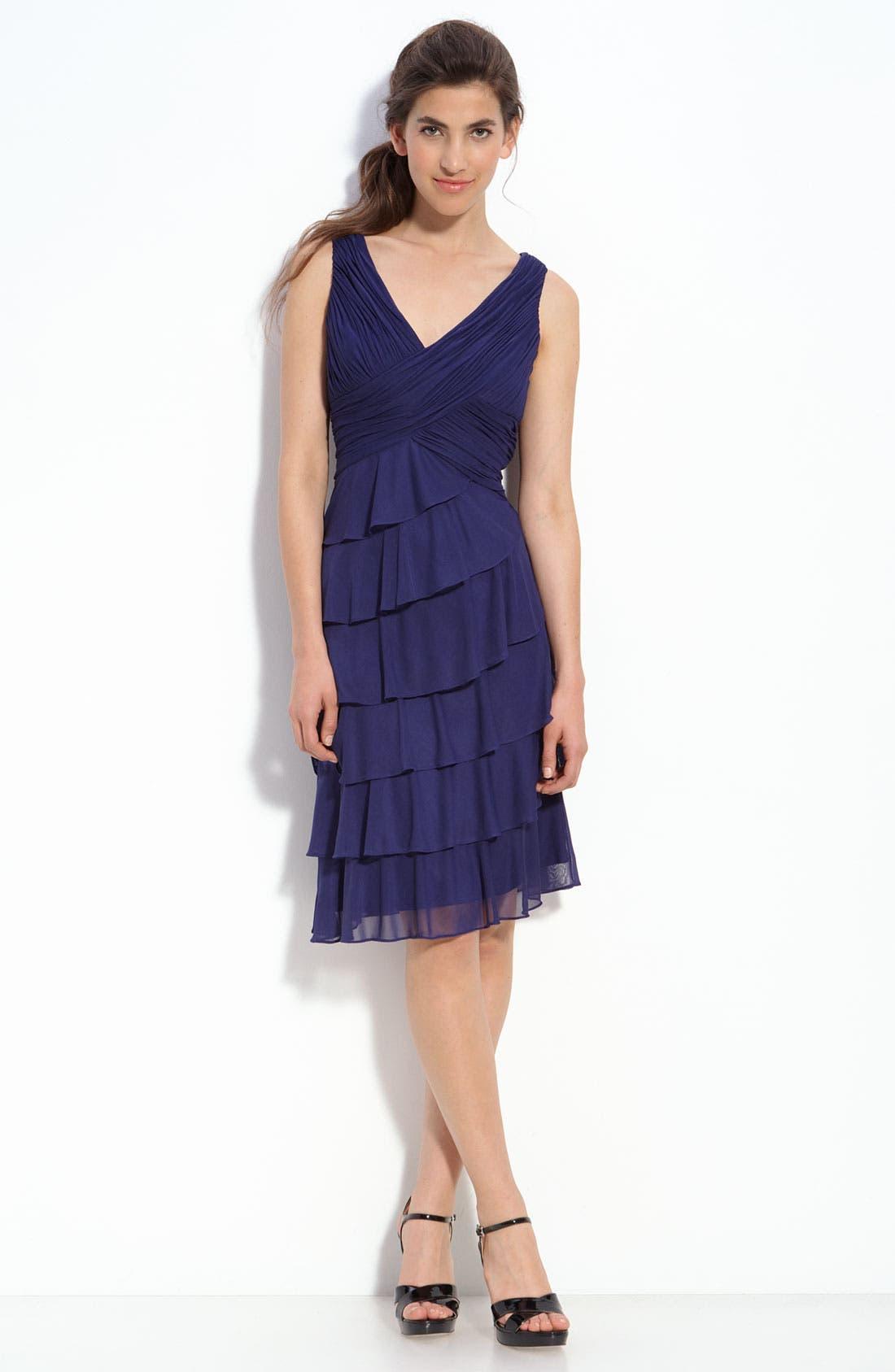Main Image - Patra Tiered Chiffon Sheath Dress