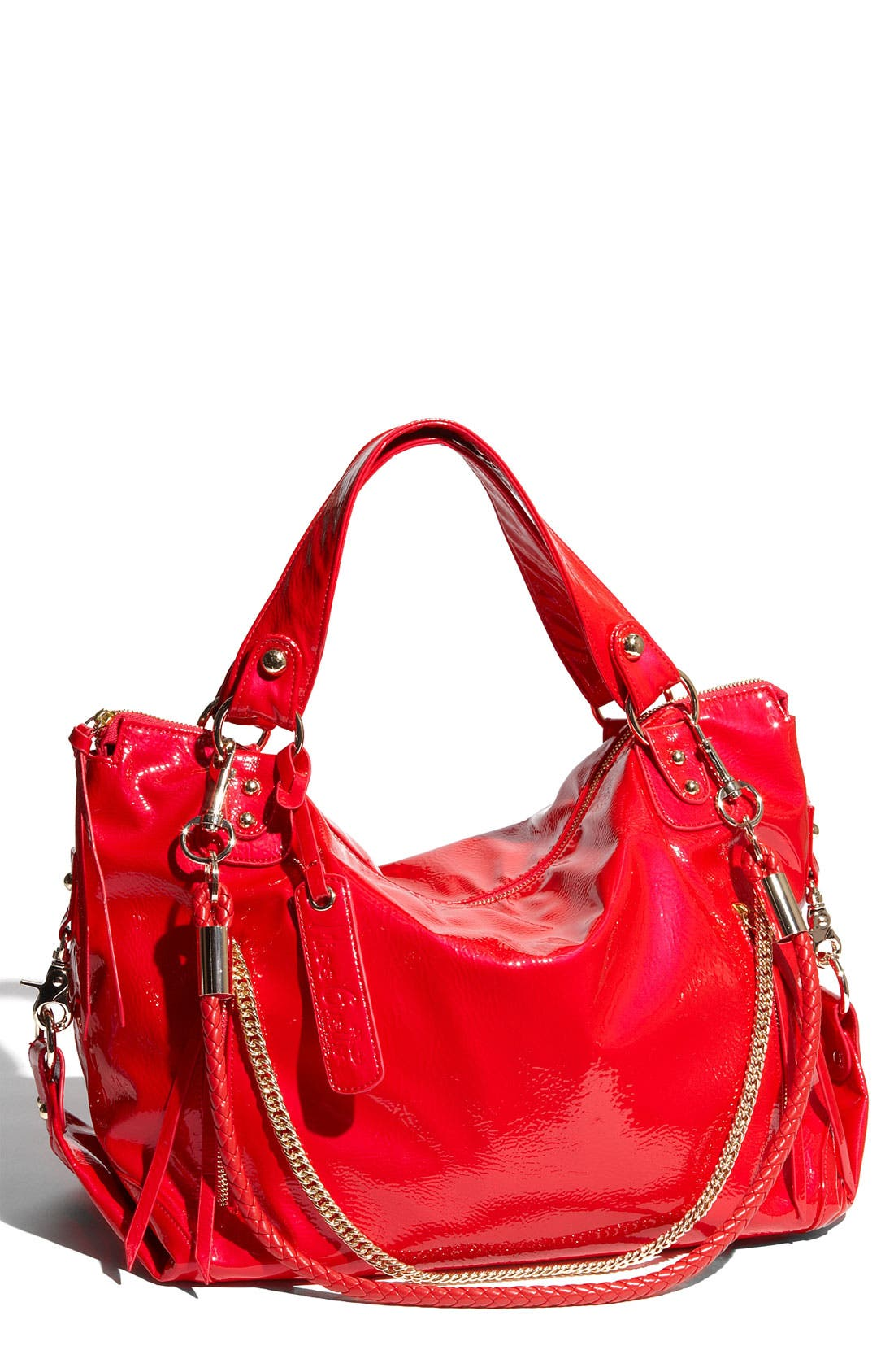 Alternate Image 1 Selected - Miss Gustto 'Bonnie' Faux Patent Leather Shopper