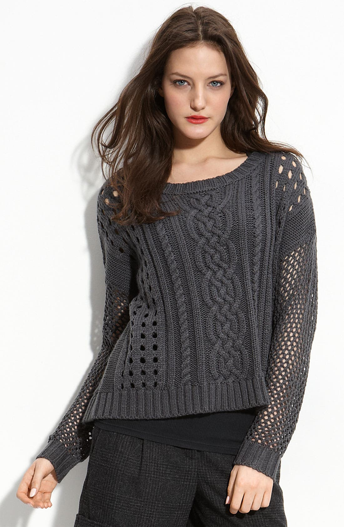 Alternate Image 1 Selected - Trouvé Open Stitch Sweater