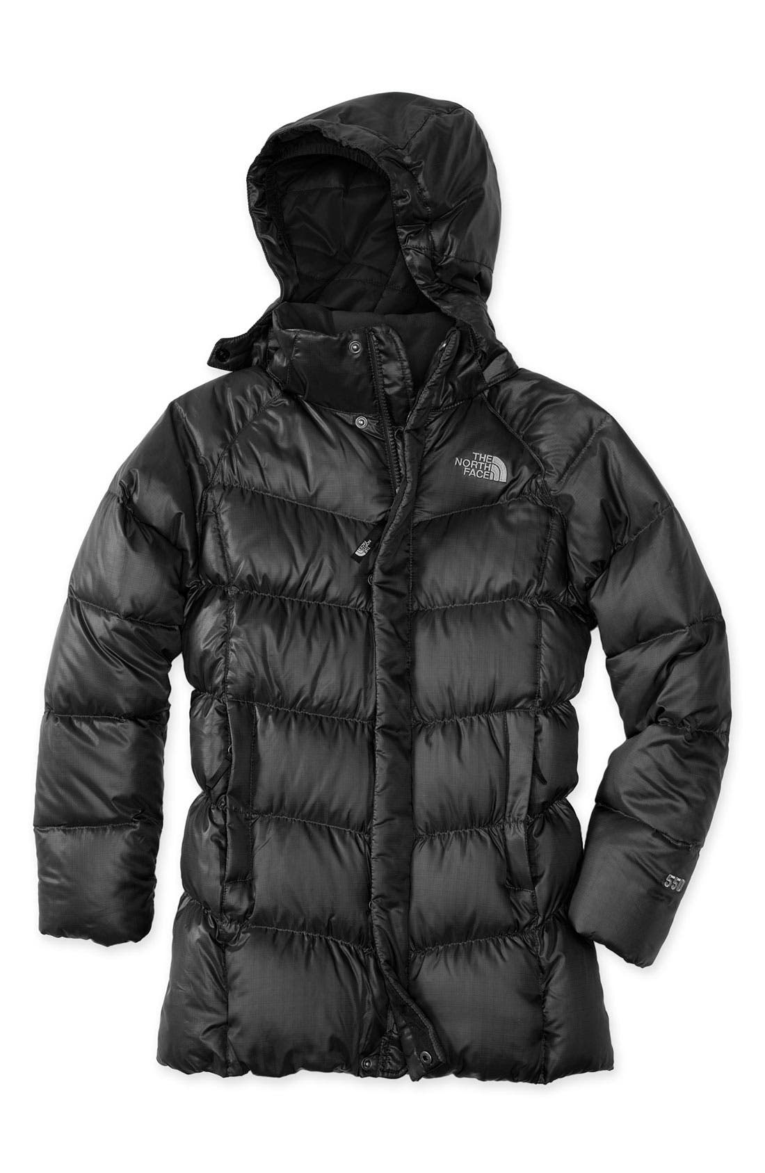 Main Image - The North Face 'Transit' Down Parka (Big Girls)