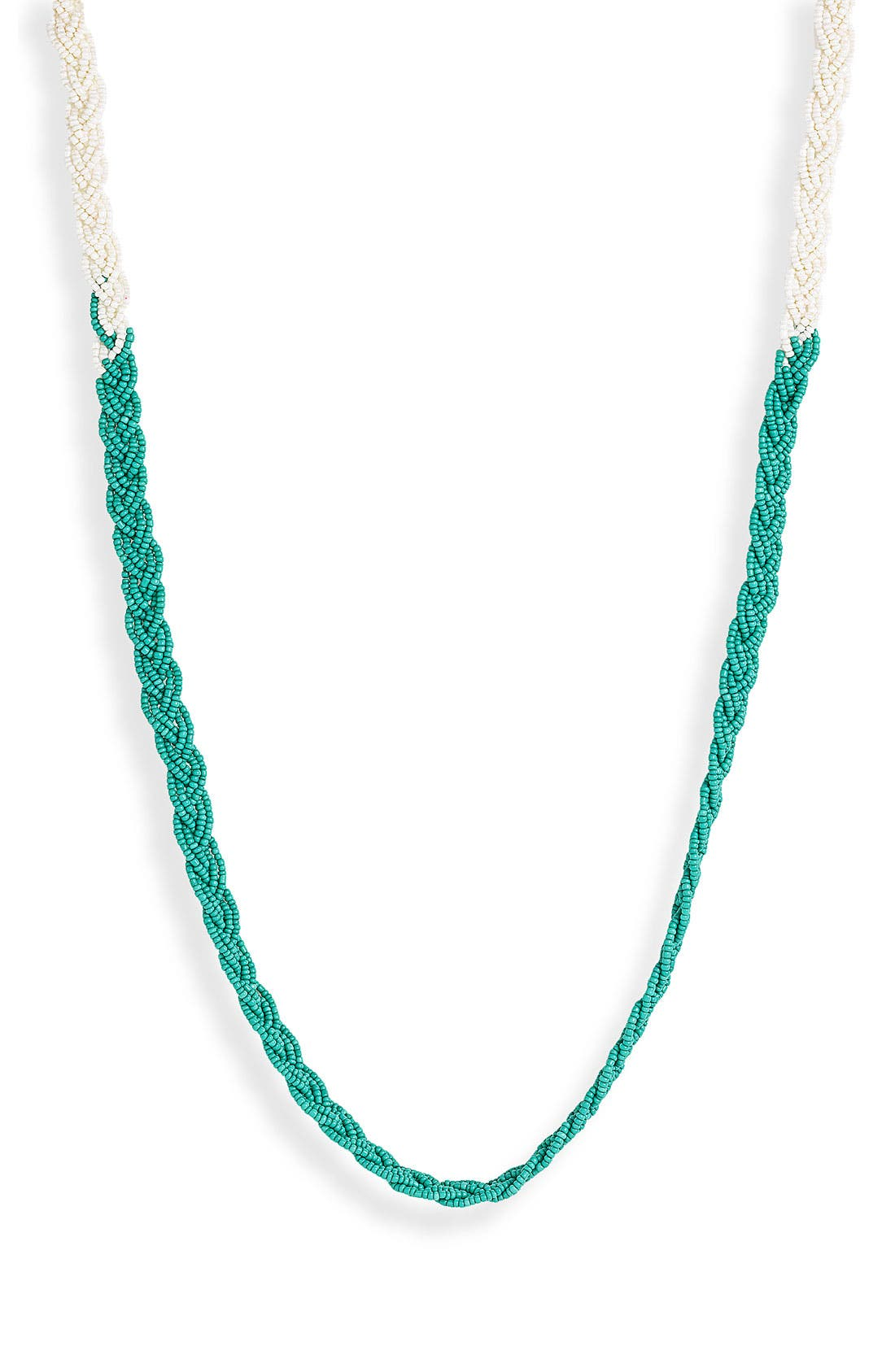 Main Image - Stephan & Co. Braided Seed Bead Necklace