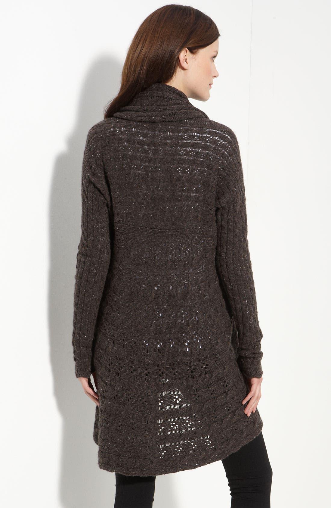 Alternate Image 2  - autumn cashmere Pointelle Knit Cashmere Cardigan