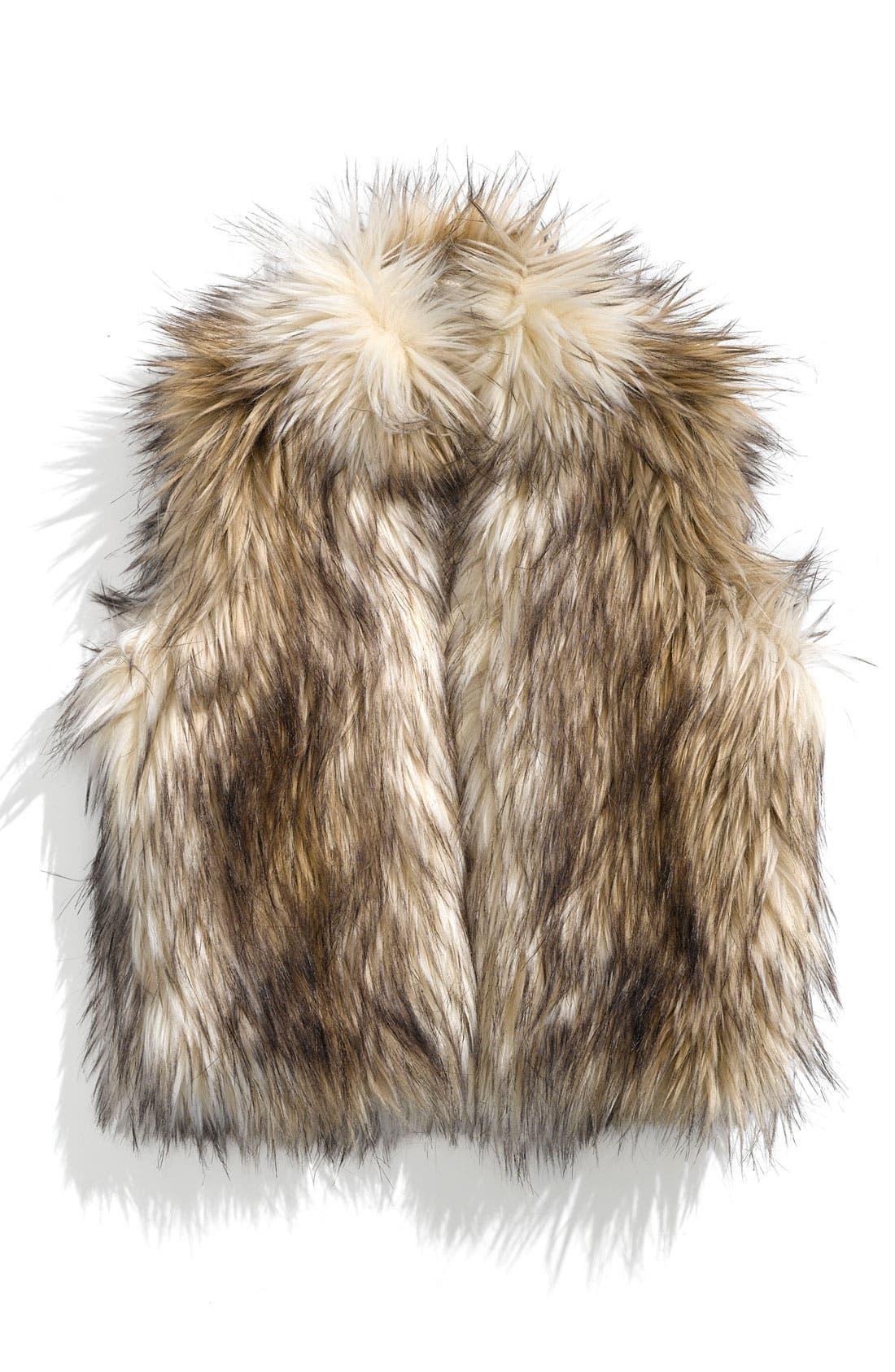 Main Image - Widgeon Faux Fur Vest (Toddler)
