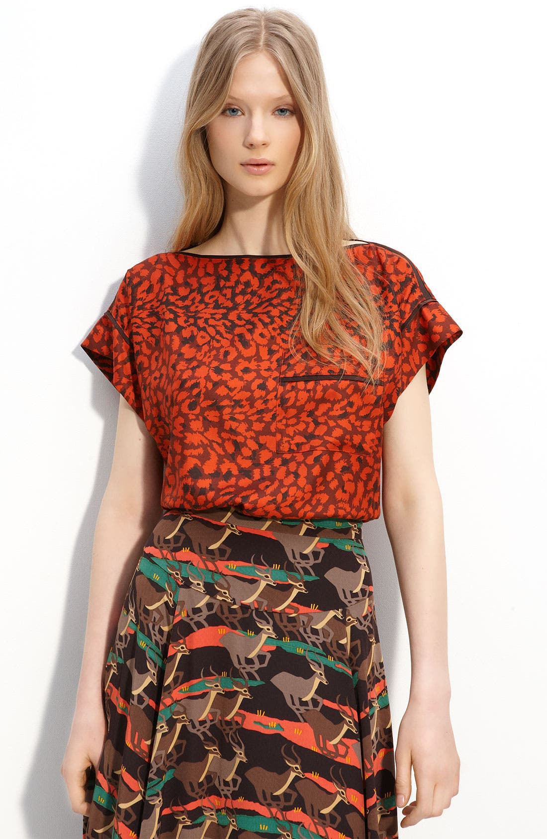 Main Image - MARC BY MARC JACOBS 'Jungle' Silk Blouse
