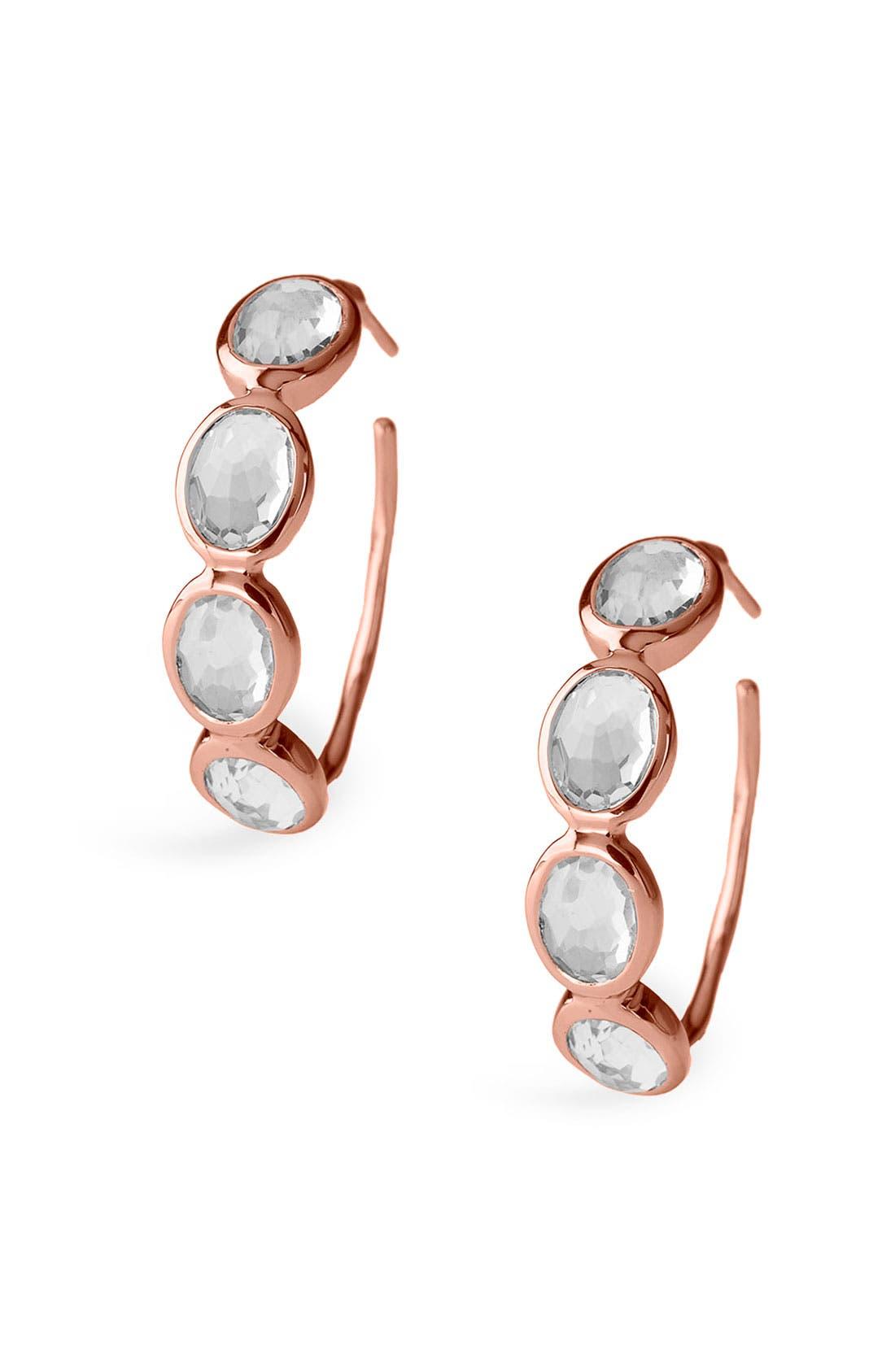 Main Image - Ippolita 'Rock Candy - Number 2' Rosé 4-Stone Hoop Earrings