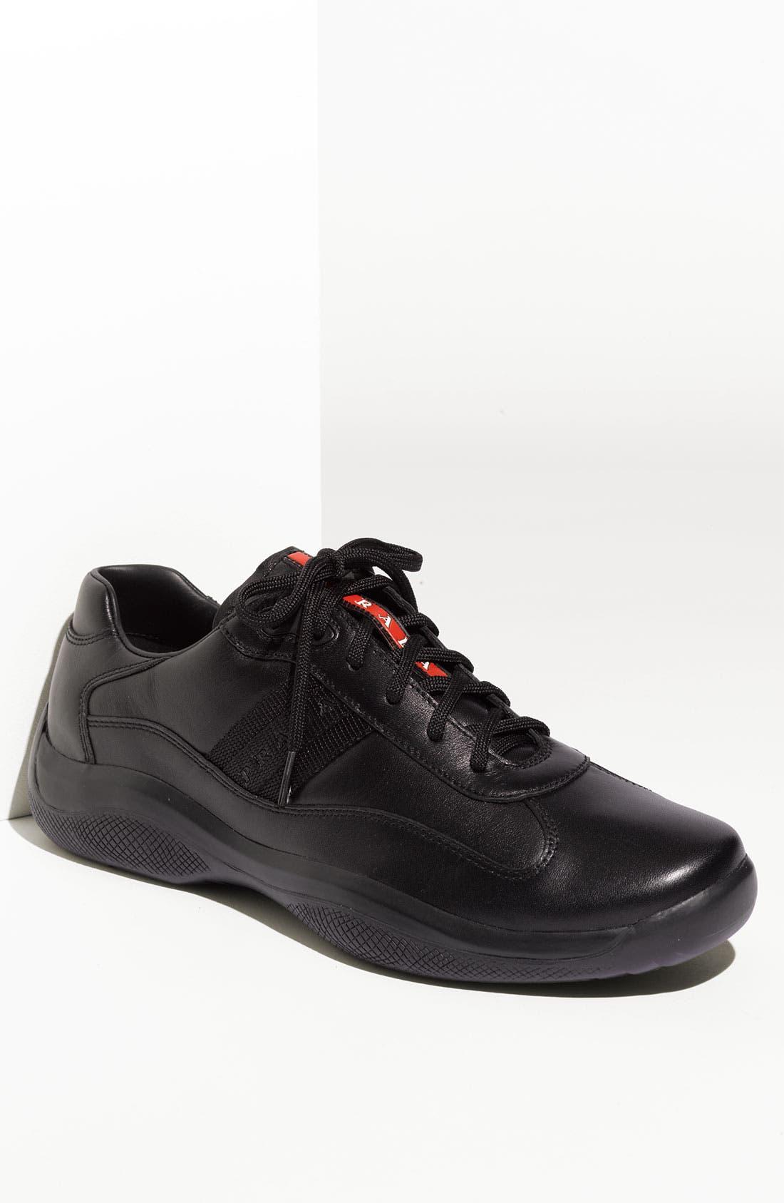 Alternate Image 1 Selected - Prada 'Eagle' Lace-Up Sneaker (Men)