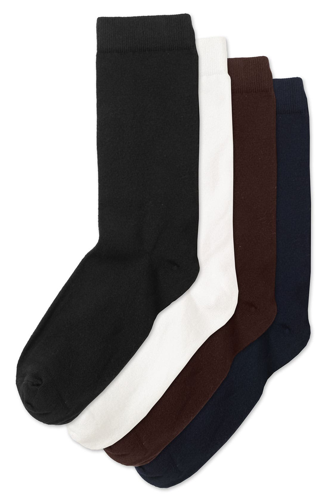 Alternate Image 3  - Nordstrom Solid Crew Socks