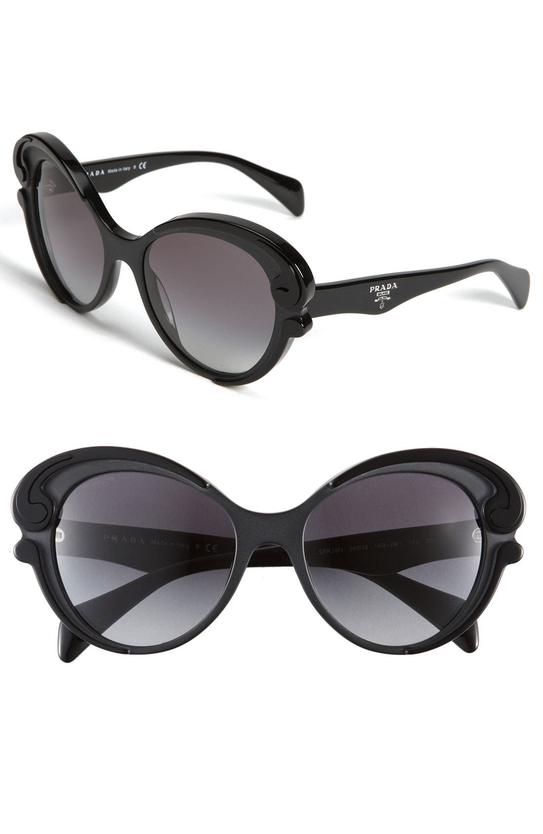Alternate Image 1 Selected - Prada 'Baroque' Cat's Eye Sunglasses