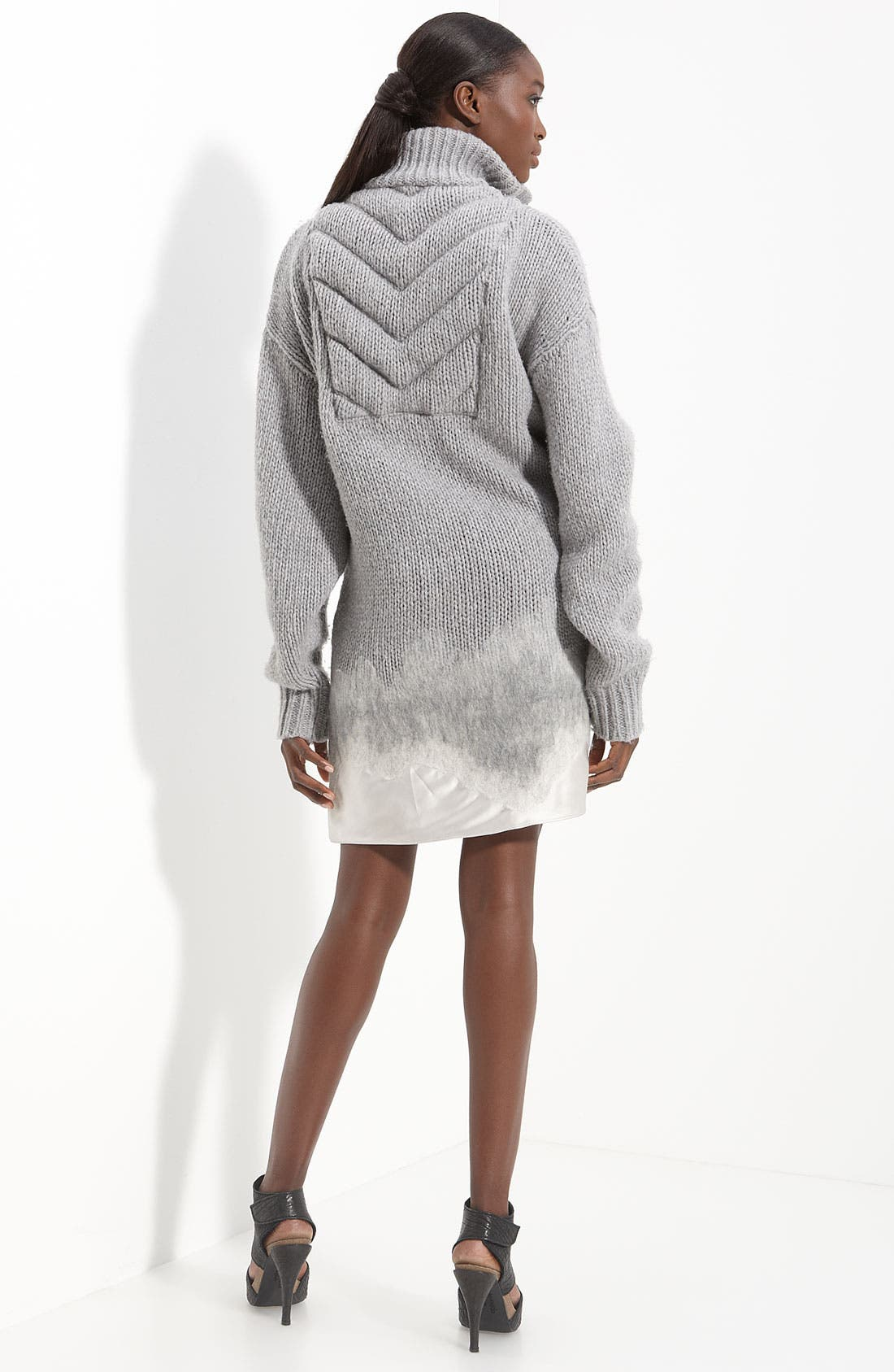 Alternate Image 2  - Alexander Wang Satin Hem Sweater Dress