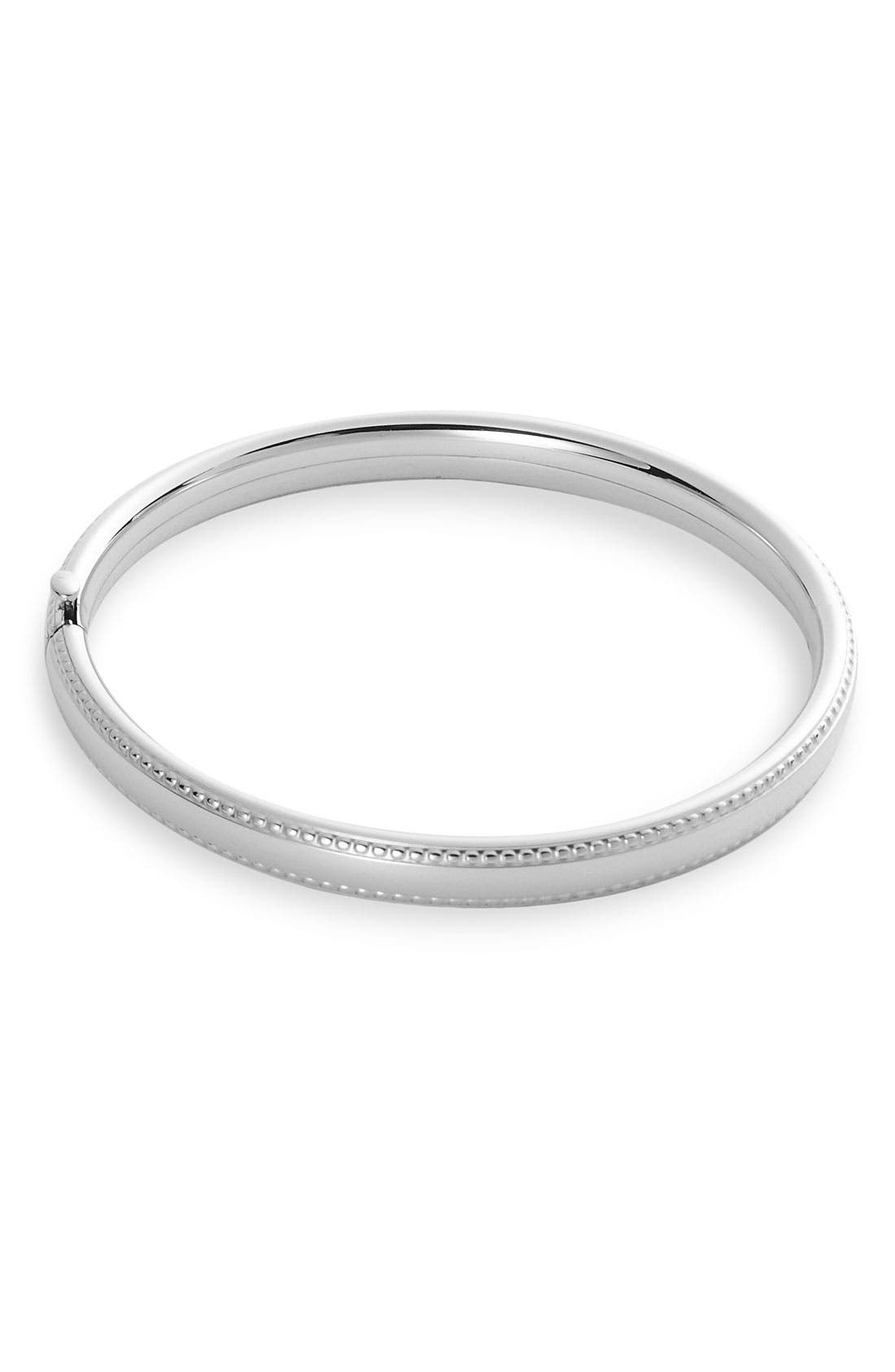 Alternate Image 1 Selected - Bead Edge Silver Bangle (Infant)