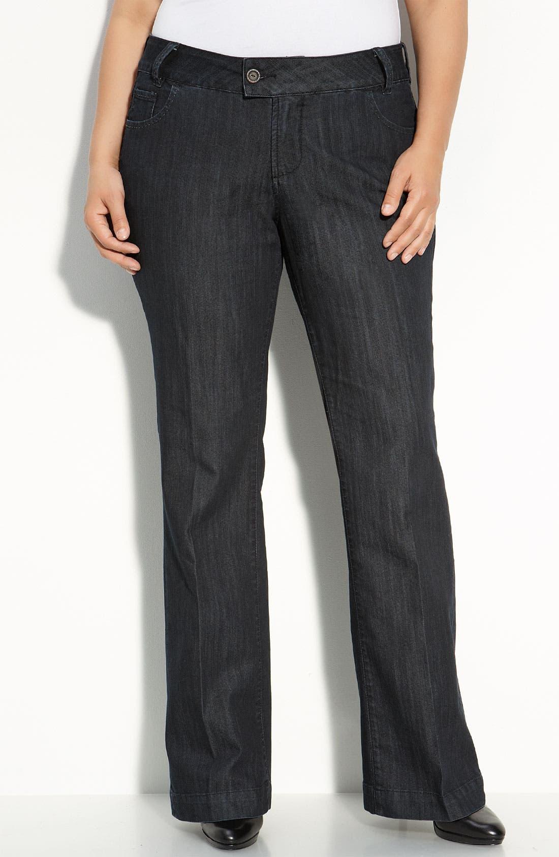 Alternate Image 2  - Jag Jeans 'Adrienne' Trouser Jeans (Plus)