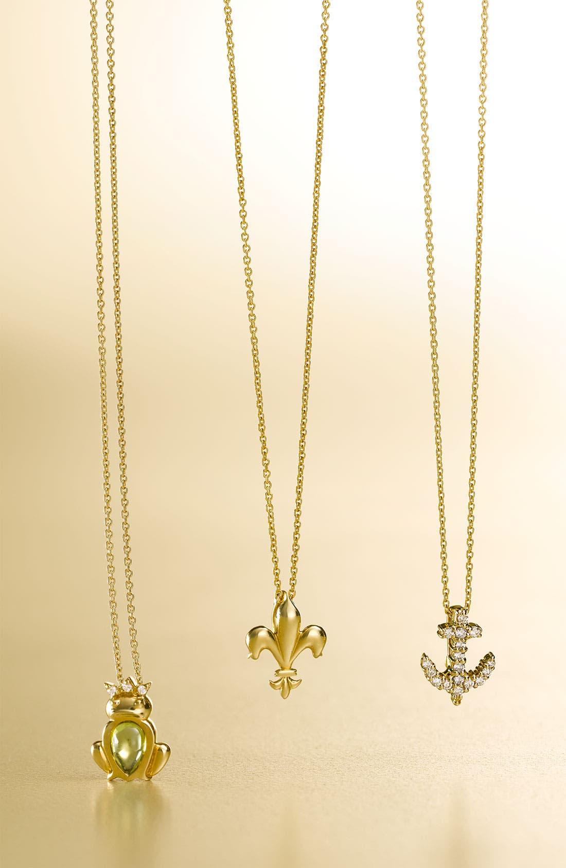 Alternate Image 2  - Roberto Coin 'Tiny Treasures' Fleur de Lis Necklace