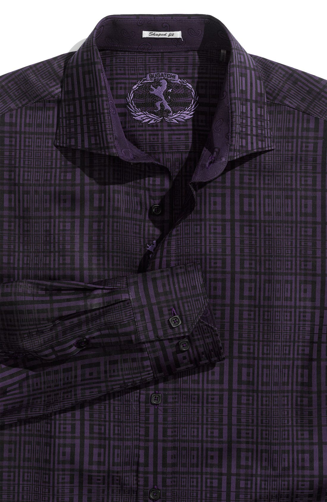 Alternate Image 1 Selected - Bugatchi Uomo 'Shaped Fit' Patterned Sport Shirt