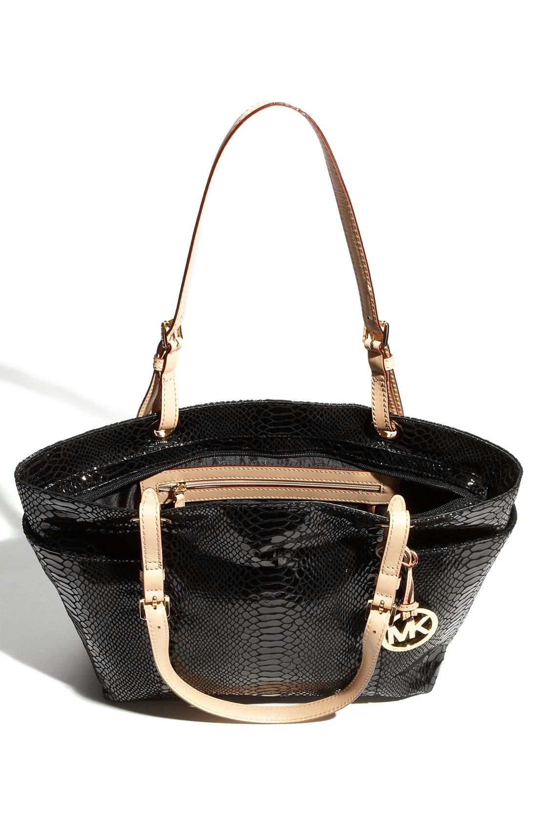 Alternate Image 3  - MICHAEL Michael Kors 'Jet Set' Python Embossed Patent Tote, Small
