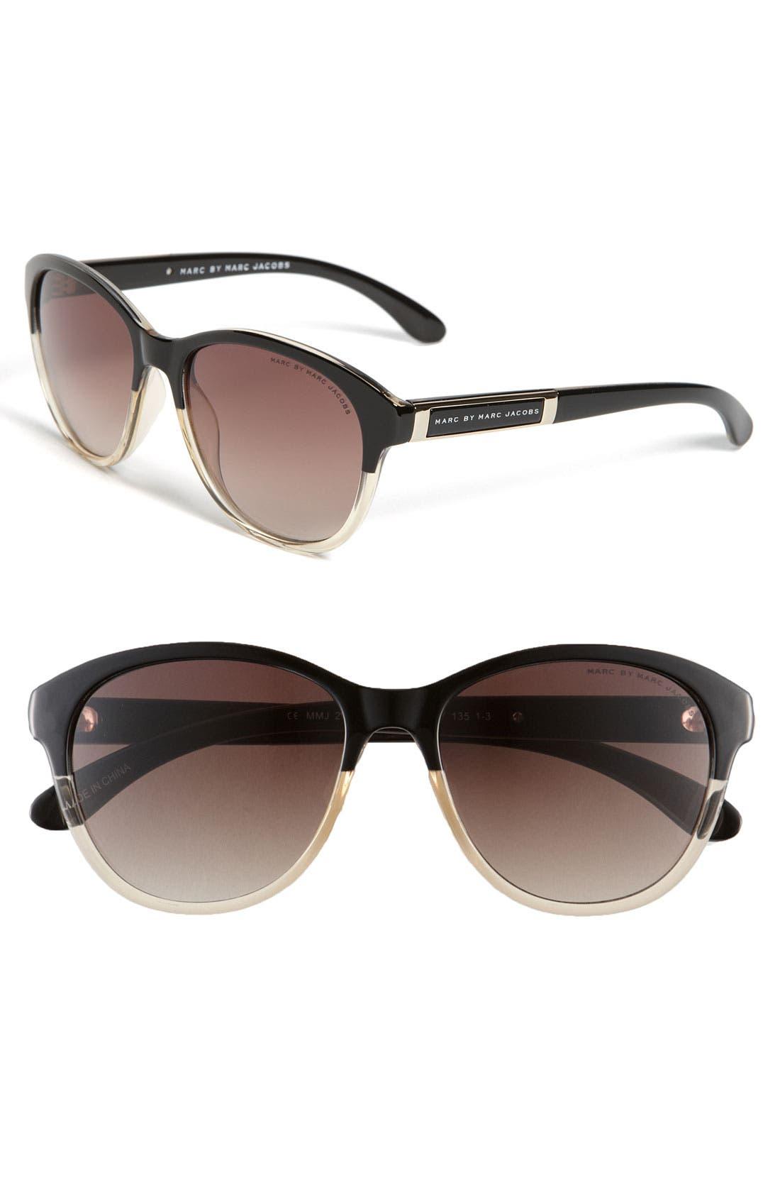 Main Image - MARC BY MARC JACOBS Retro Plastic Sunglasses