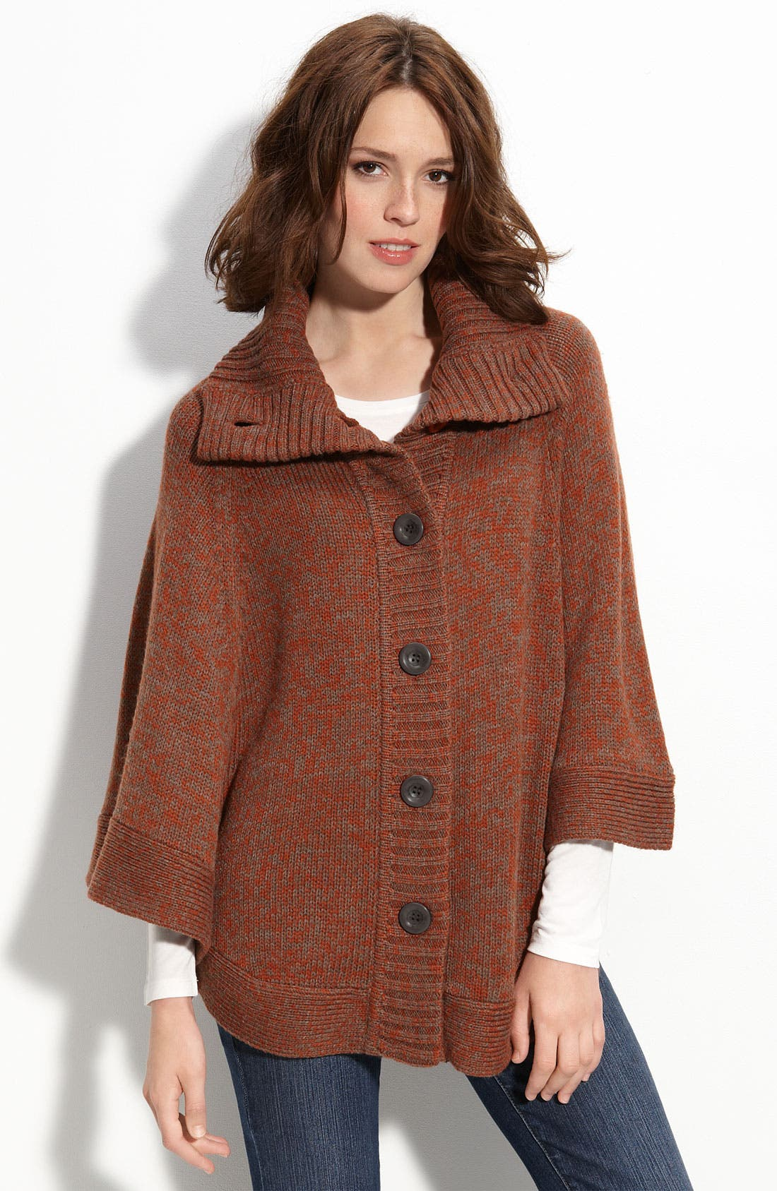 Alternate Image 1 Selected - Caslon® Marled Poncho