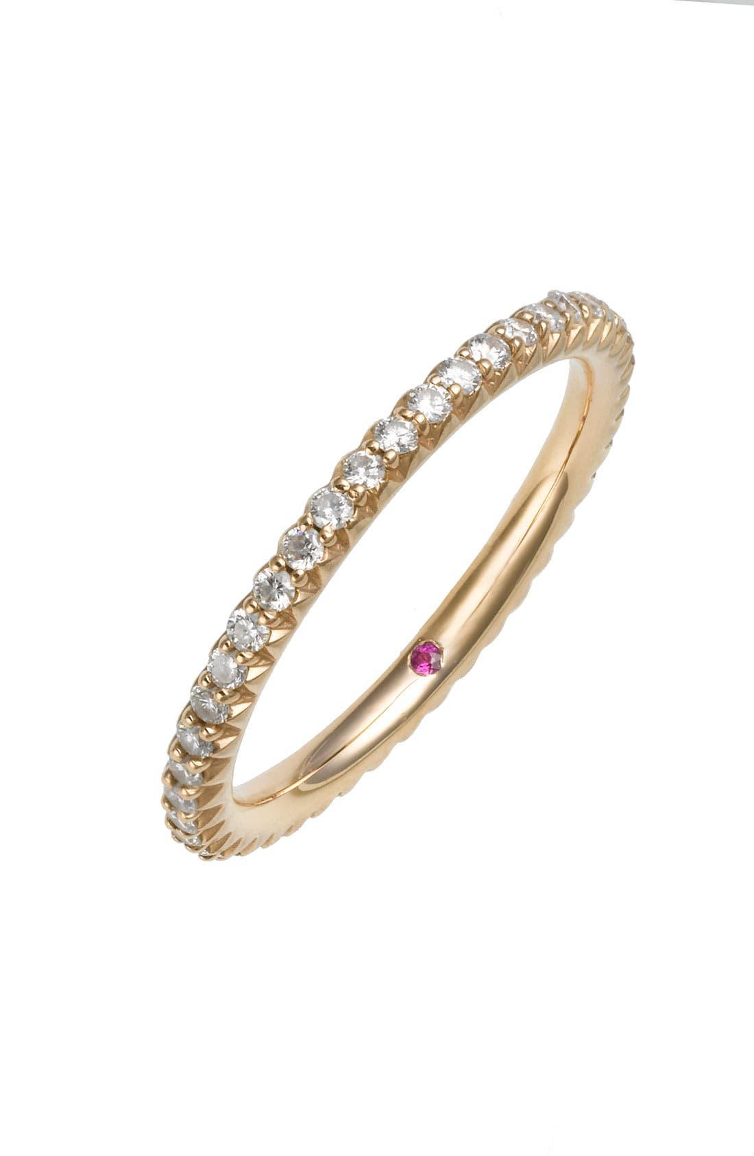 Main Image - Roberto Coin 'Micropavé' Diamond Stackable Ring