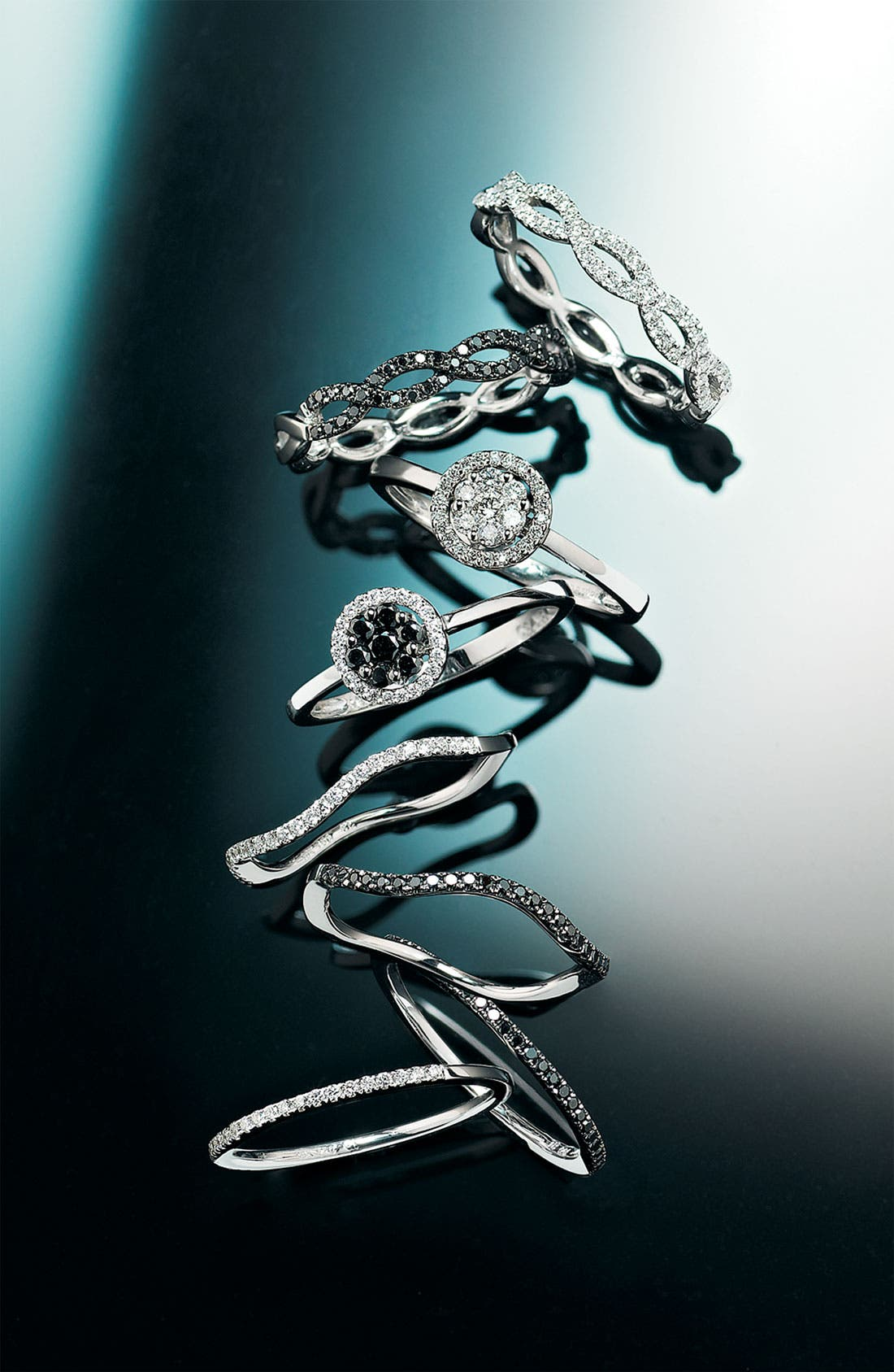 Alternate Image 2  - Bony Levy Stackable Diamond Weave Ring (Nordstrom Exclusive)
