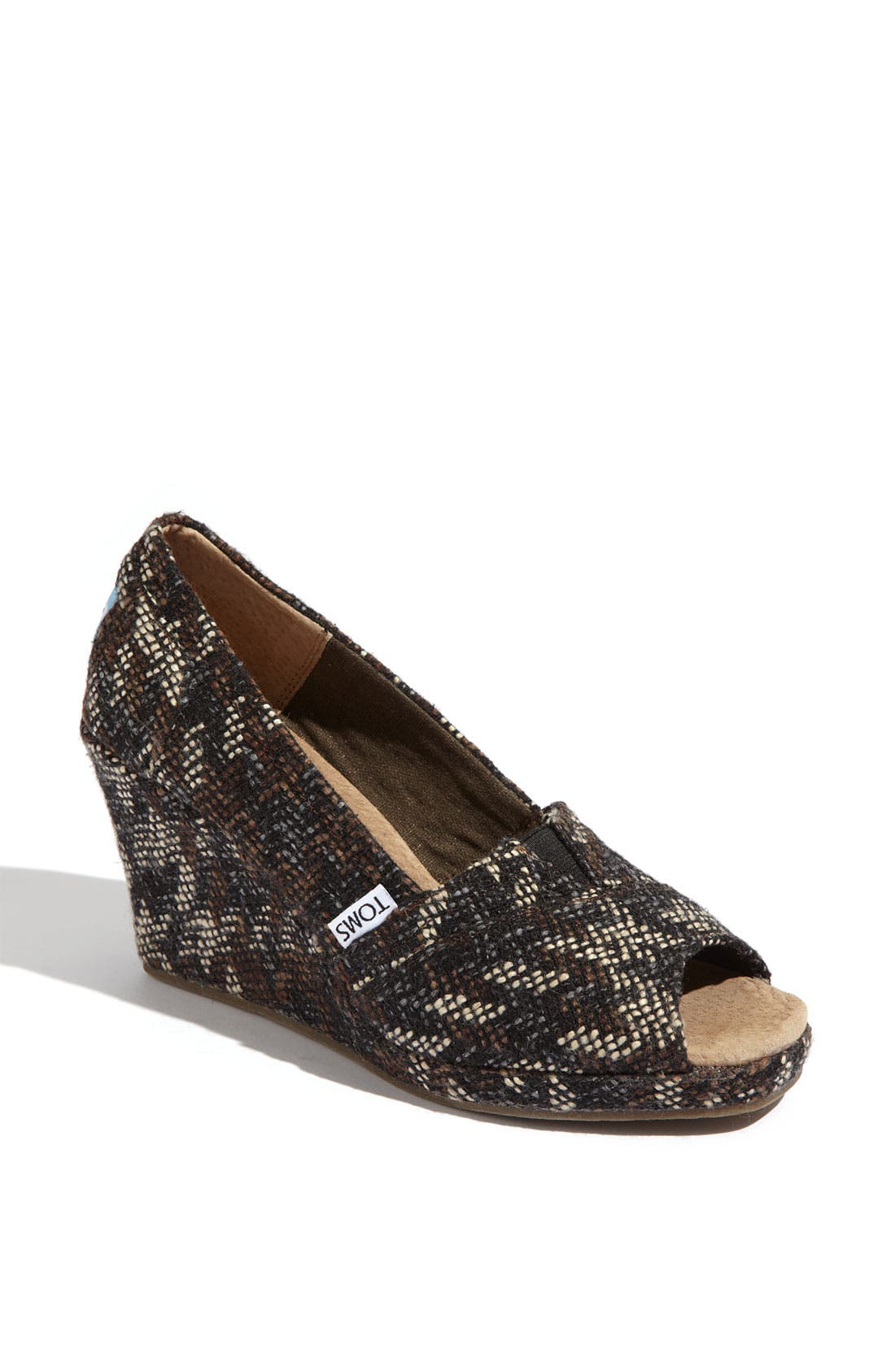Alternate Image 1 Selected - TOMS Fabric Wedge (Women)
