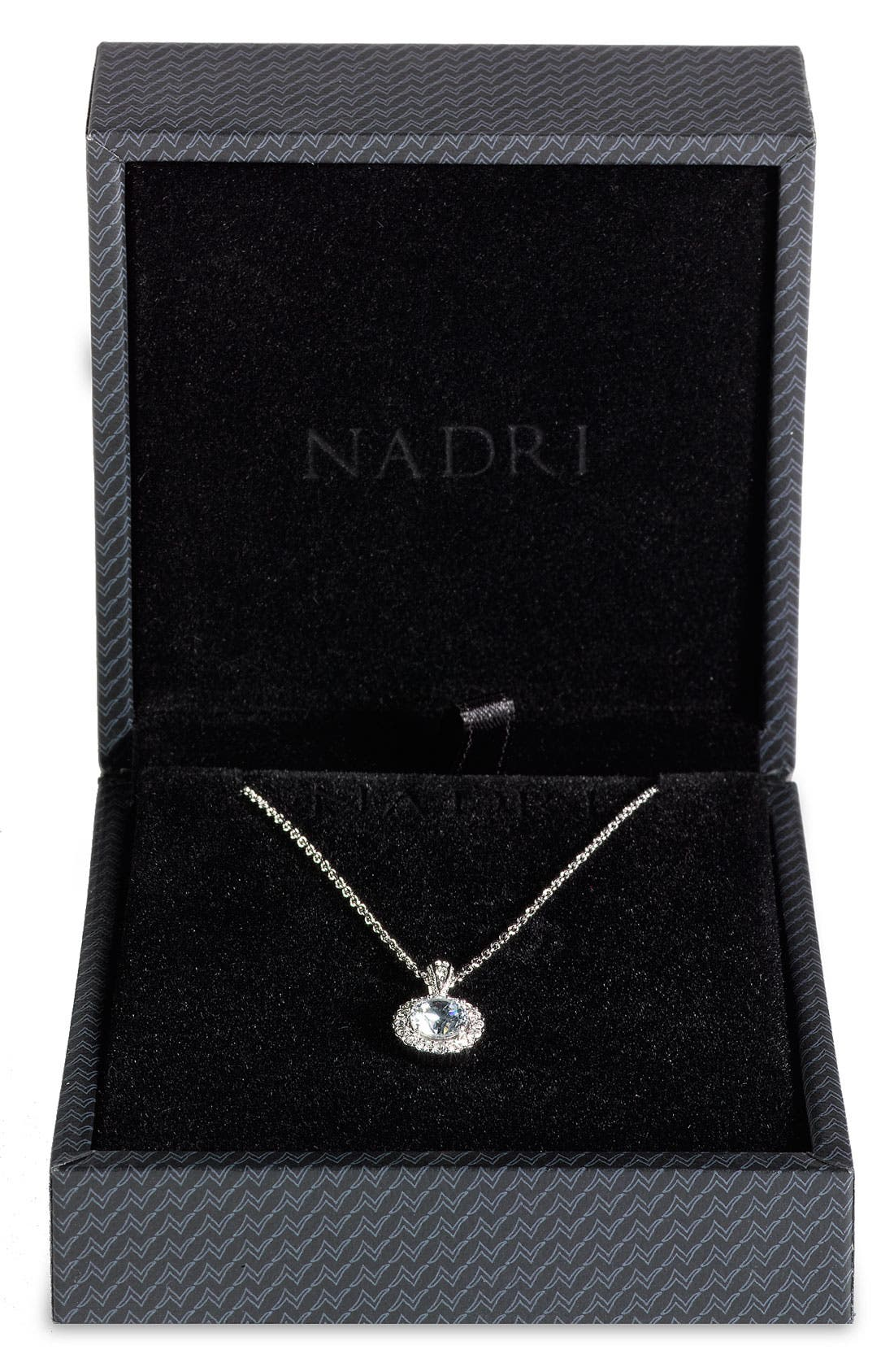Alternate Image 3  - Nadri Framed Round Cubic Zirconia Necklace (Nordstrom Exclusive)