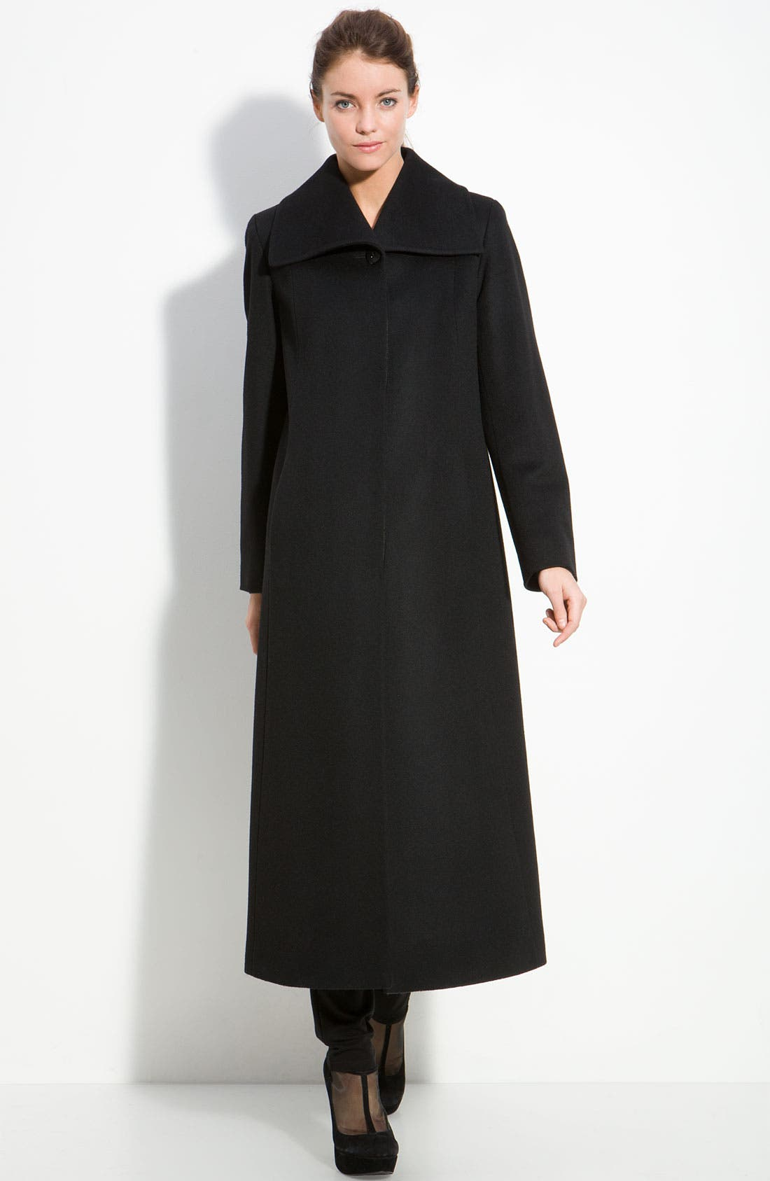 Alternate Image 1 Selected - Fleurette Long Cashmere & Wool Coat