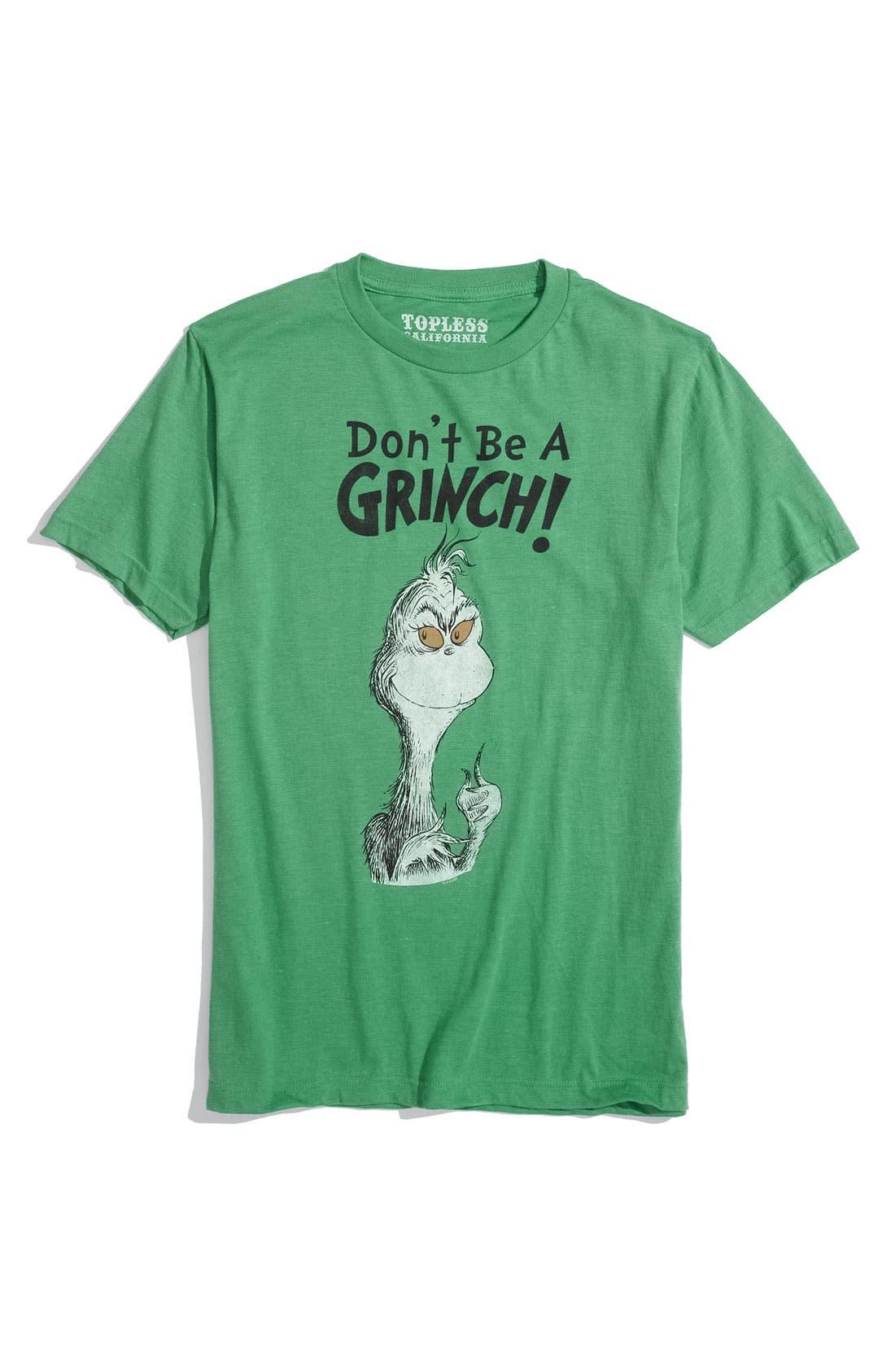 Main Image - Topless 'Don't Be A Grinch' Screenprint T-Shirt