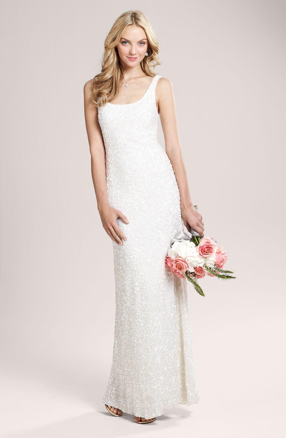 Alternate Image 6  - Theia Beaded Sleeveless Gown