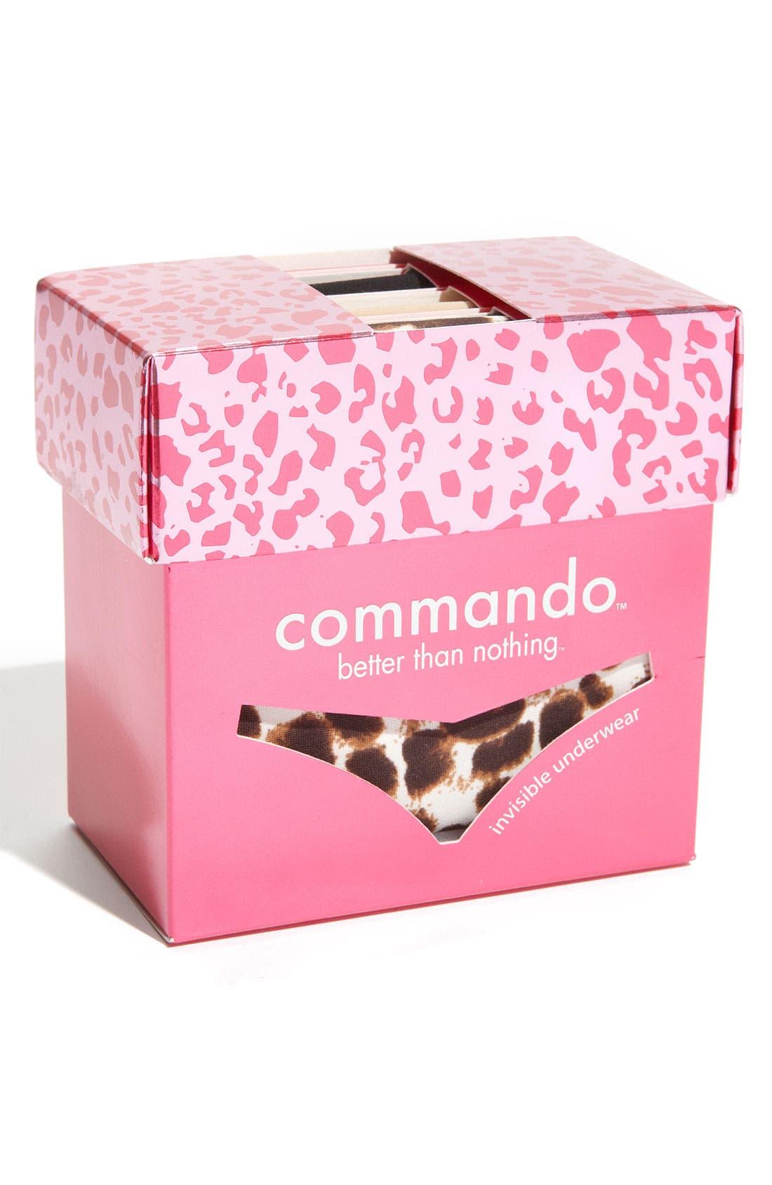 Alternate Image 2  - Commando 'Wild' Thongs (3-Pack)