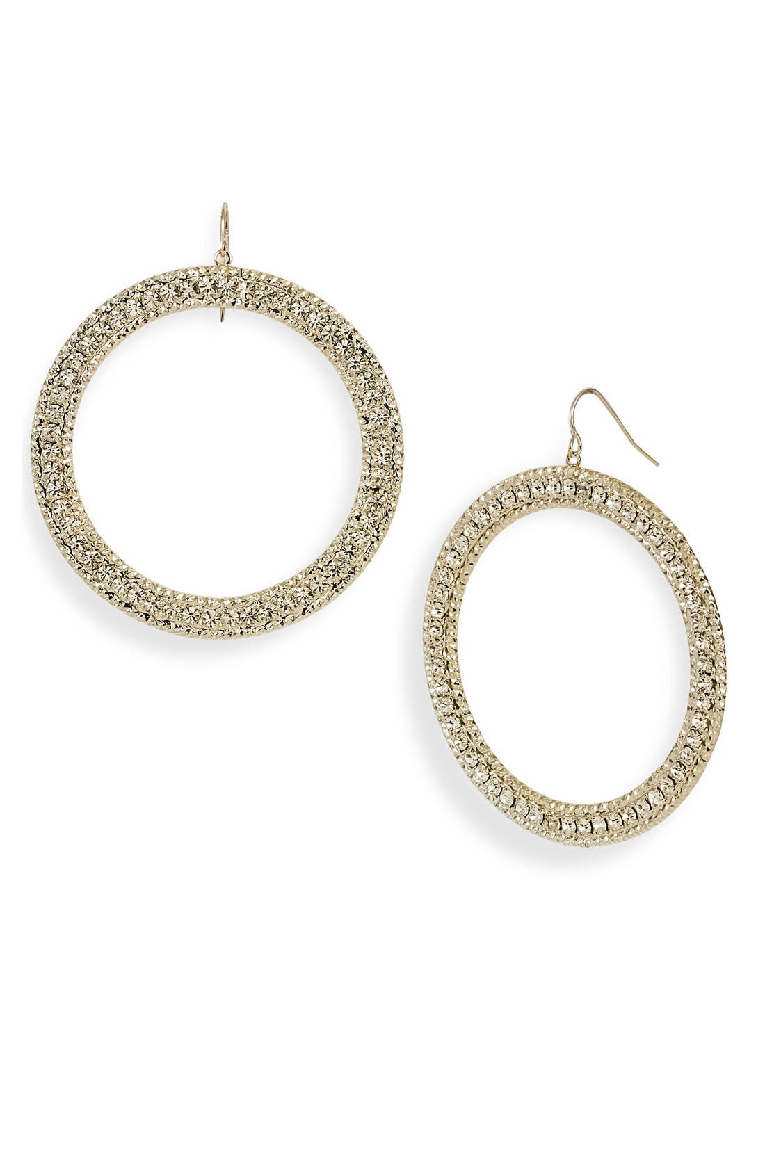Alternate Image 1 Selected - Natasha Couture Frontal Hoop Earrings