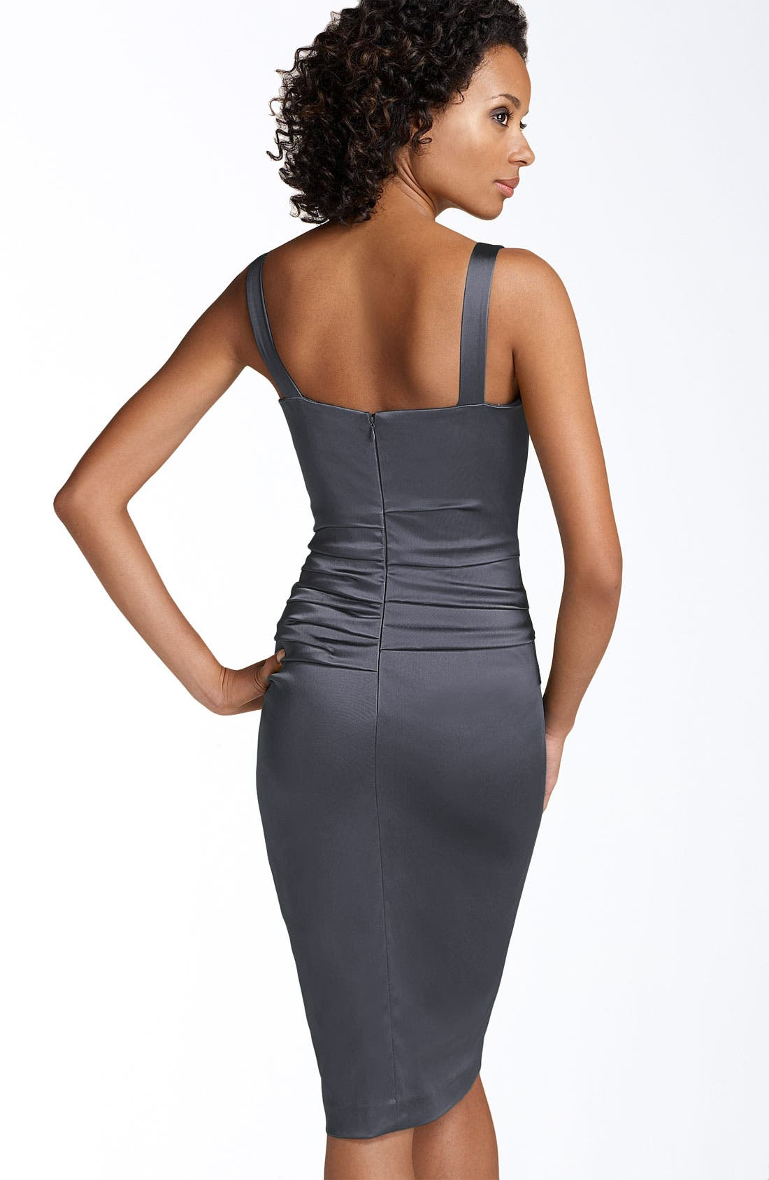 Alternate Image 2  - Suzi Chin for Maggy Boutique Sleeveless Stretch Satin Sheath Dress