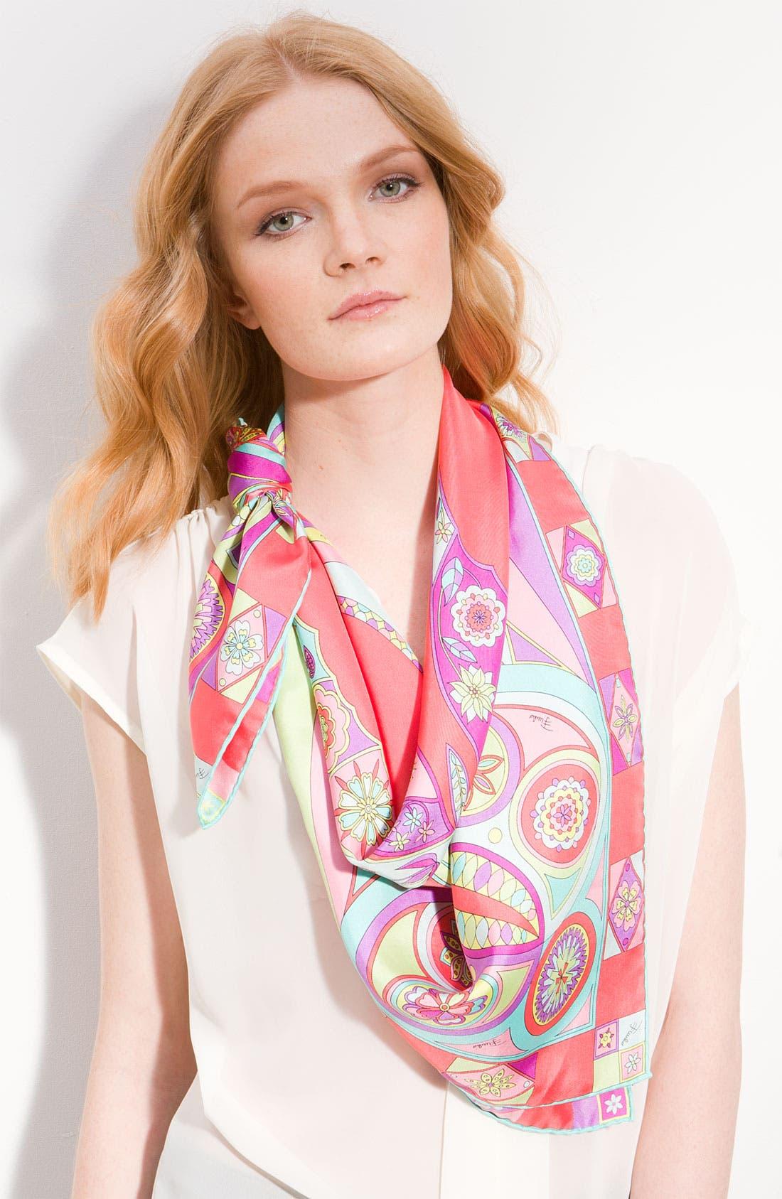 Main Image - Emilio Pucci 'Farfalla' Silk Twill Scarf