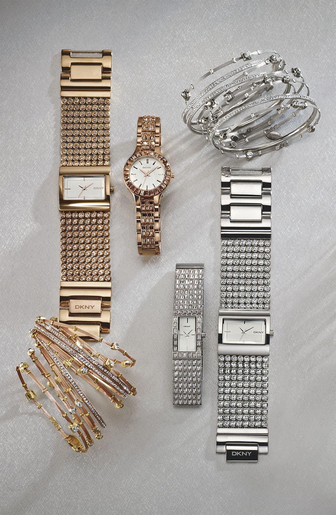 Alternate Image 2  - DKNY Mesh Crystal Bracelet Watch