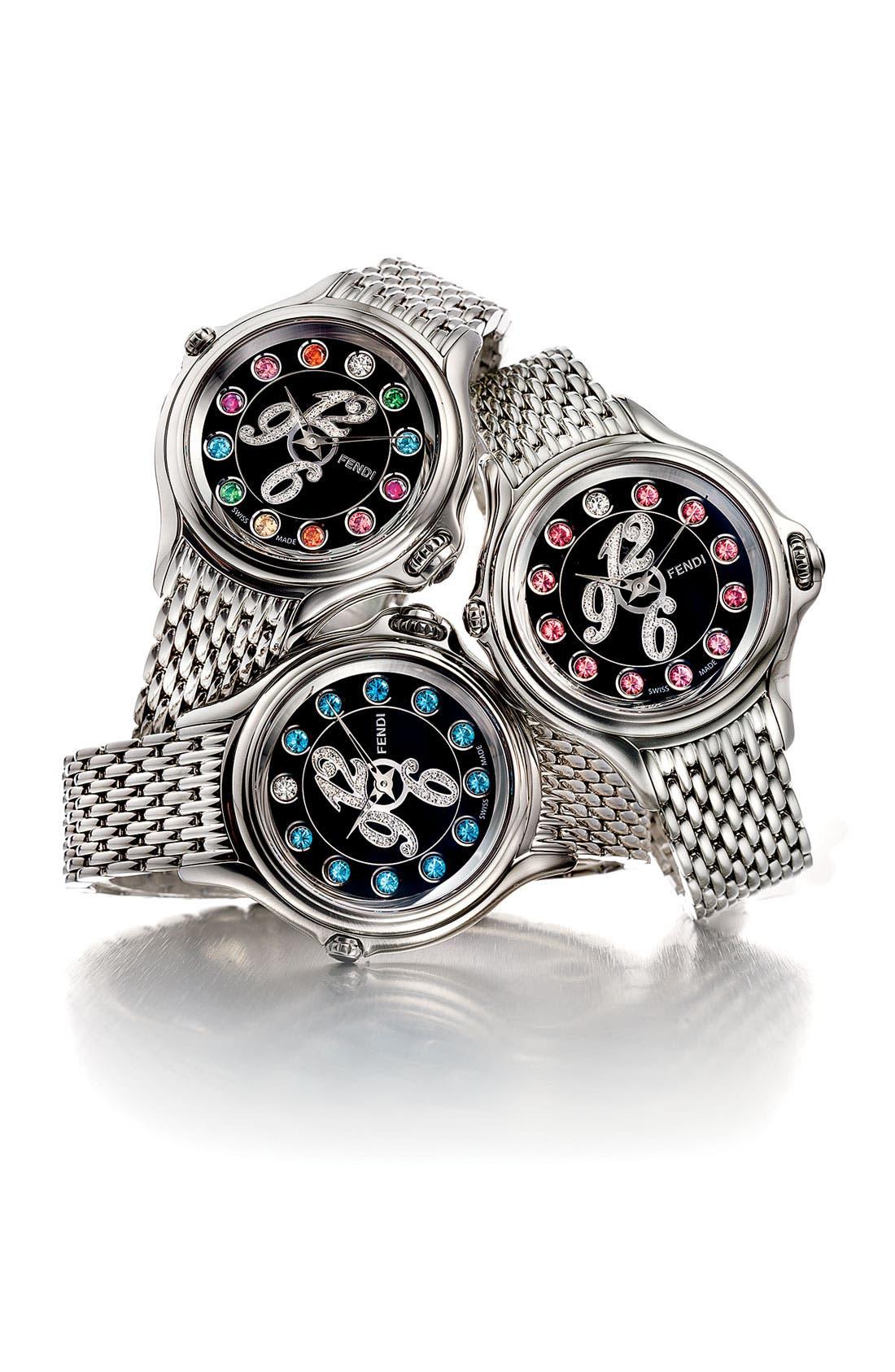 Alternate Image 4  - Fendi 'Crazy Carats' Black Dial Diamond Watch, 38mm